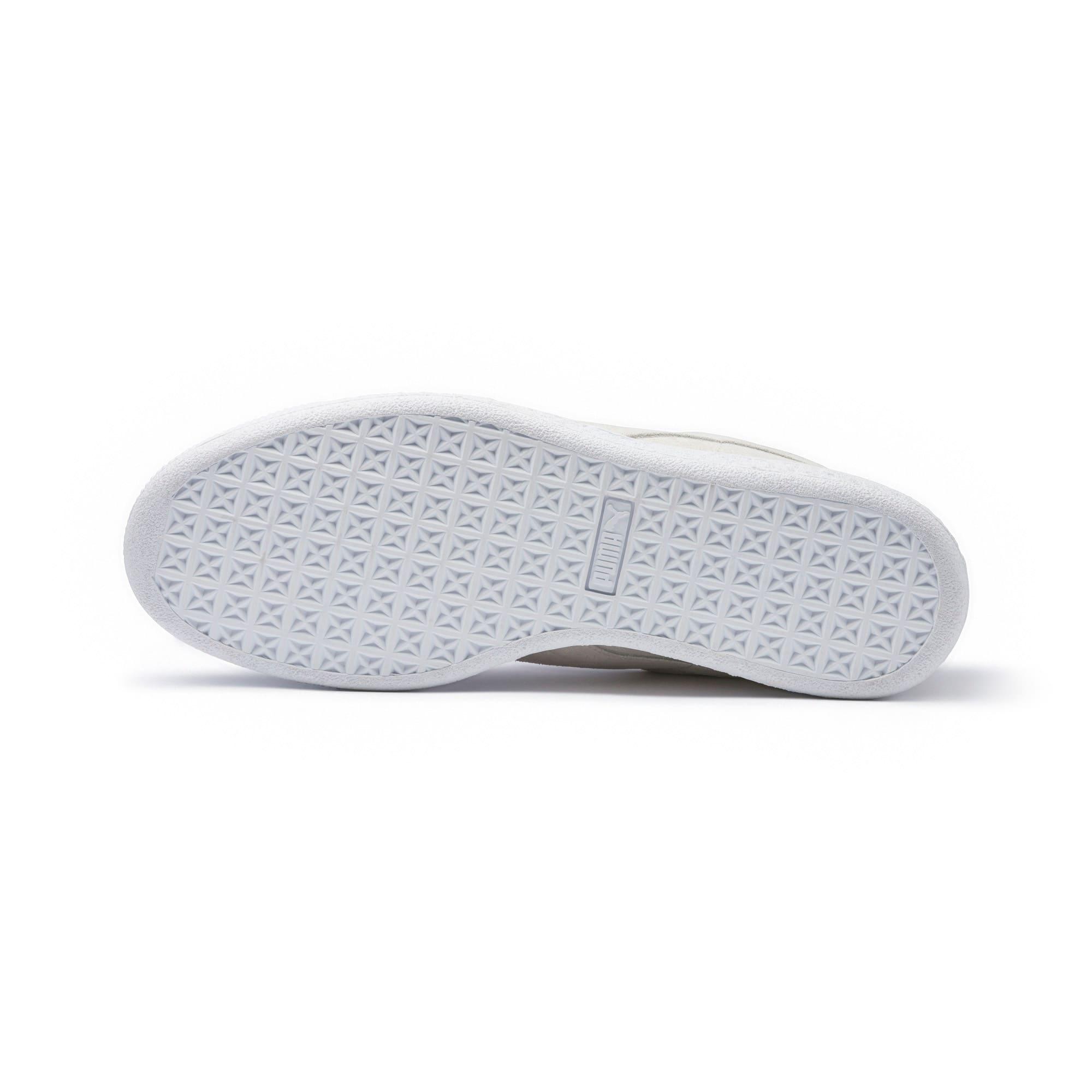 Thumbnail 3 of Suede Classic White Sneakers, Puma White-Puma White, medium