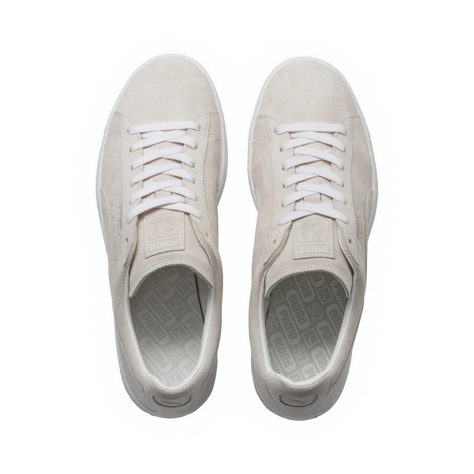 Thumbnail 5 of Suede Classic White Sneakers, Puma White-Puma White, medium