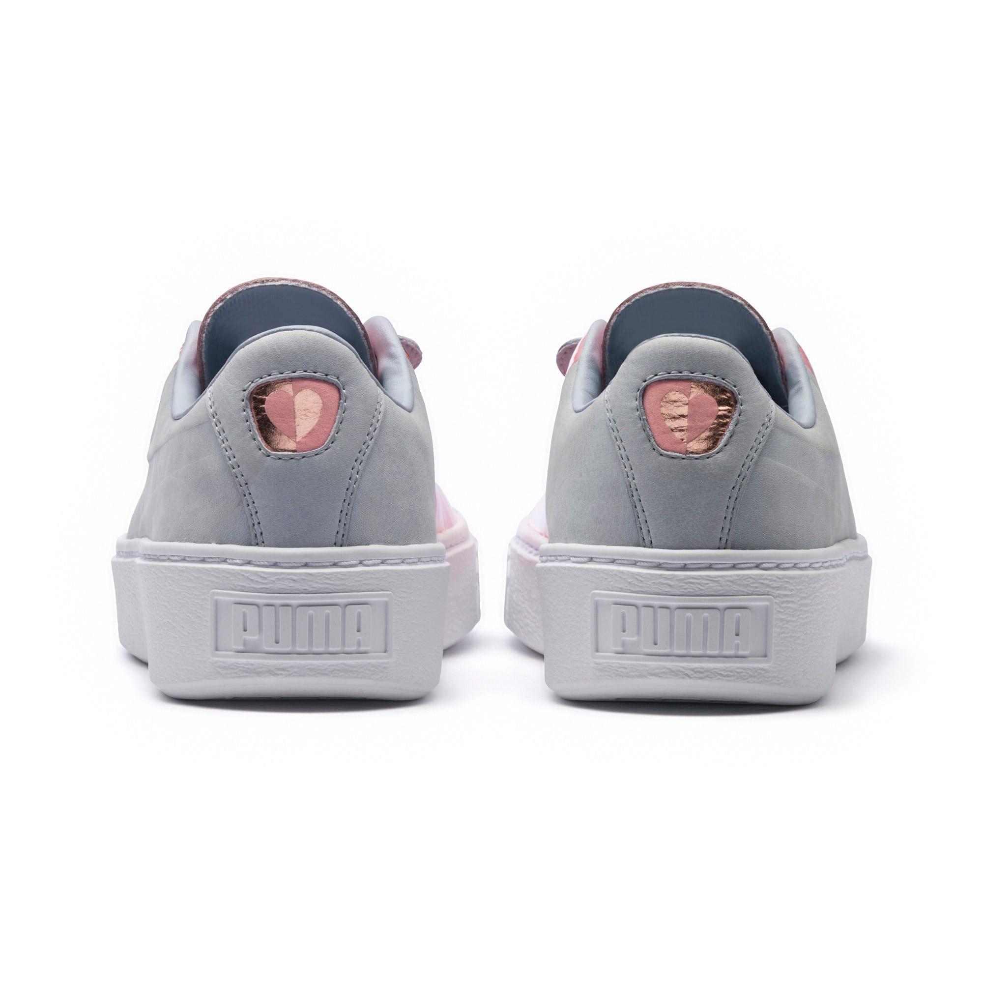 Thumbnail 4 of Basket Platform Valentine Women's Sneakers, Grey Dawn, medium