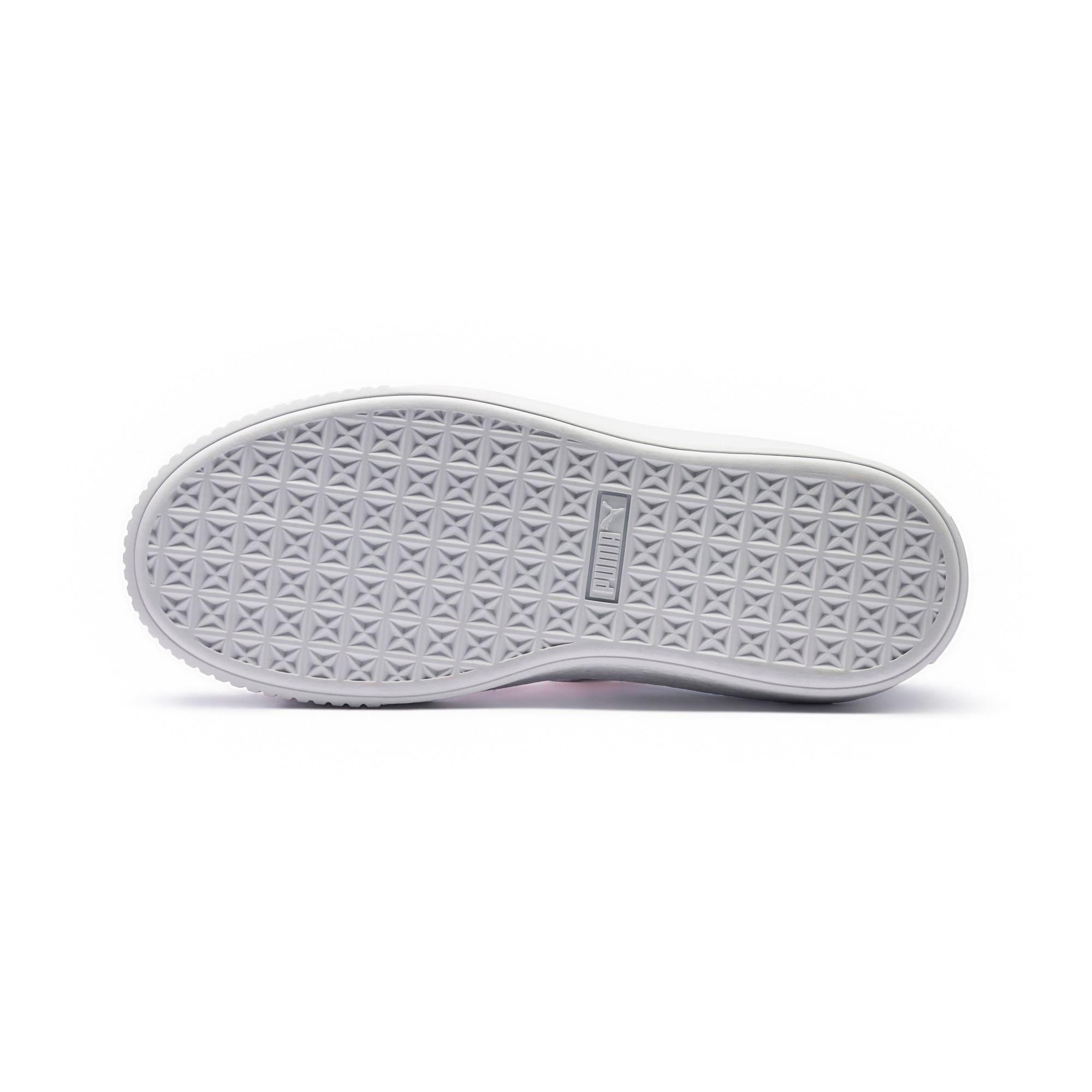 Thumbnail 3 of Basket Platform Valentine Women's Sneakers, Grey Dawn, medium