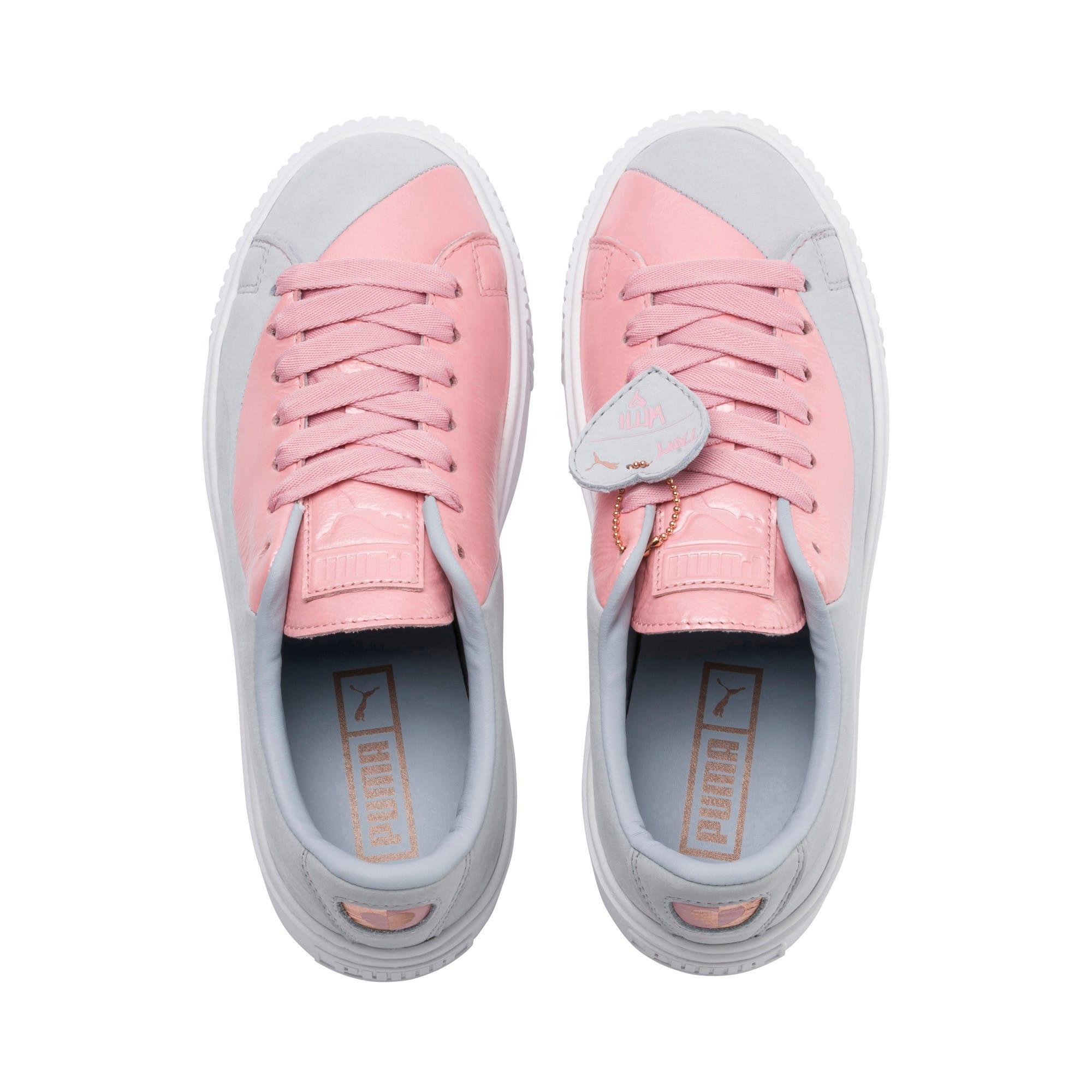 Thumbnail 5 of Basket Platform Valentine Women's Sneakers, Grey Dawn, medium