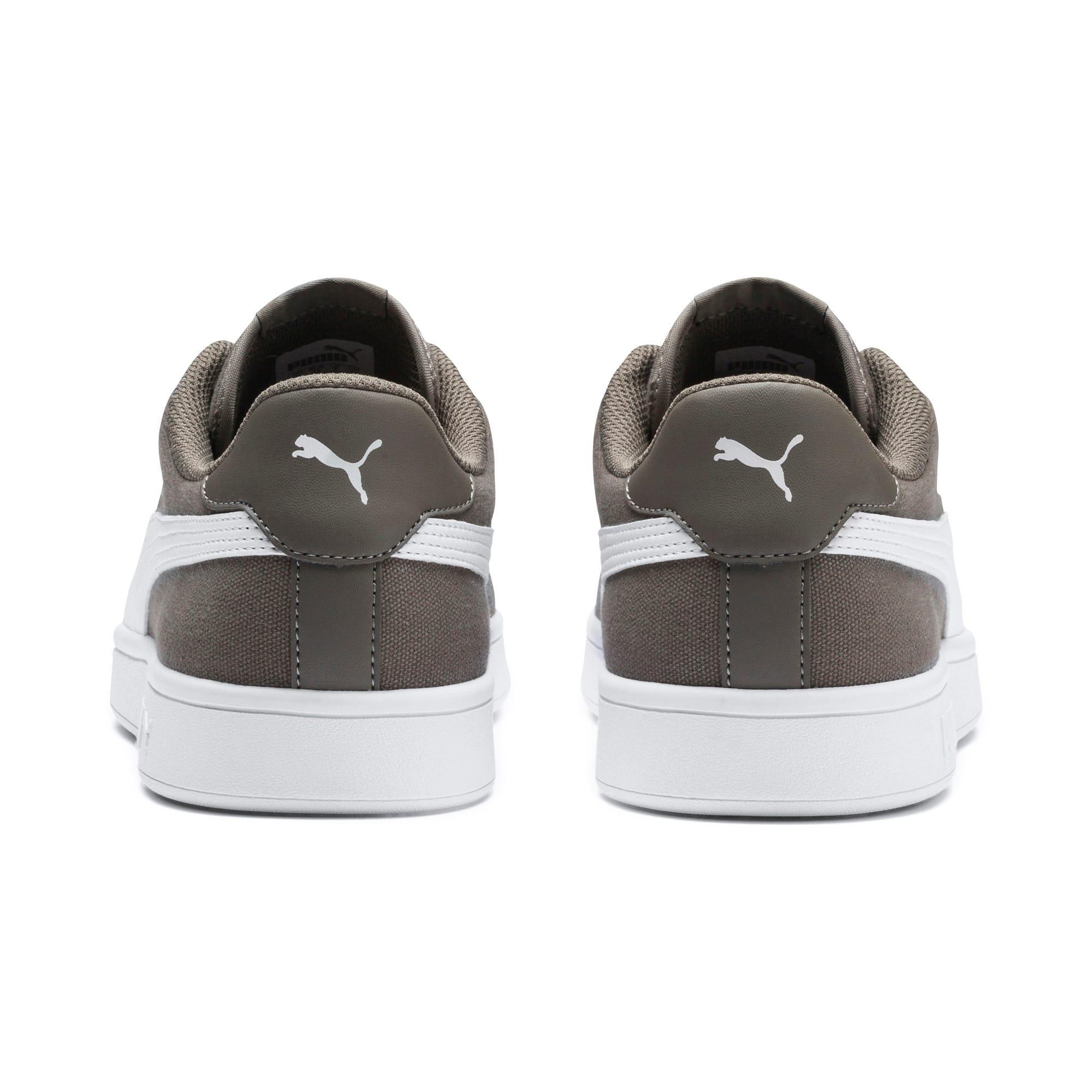Thumbnail 4 of PUMA Smash v2 Canvas Sneakers, Charcoal Gray-Puma White, medium
