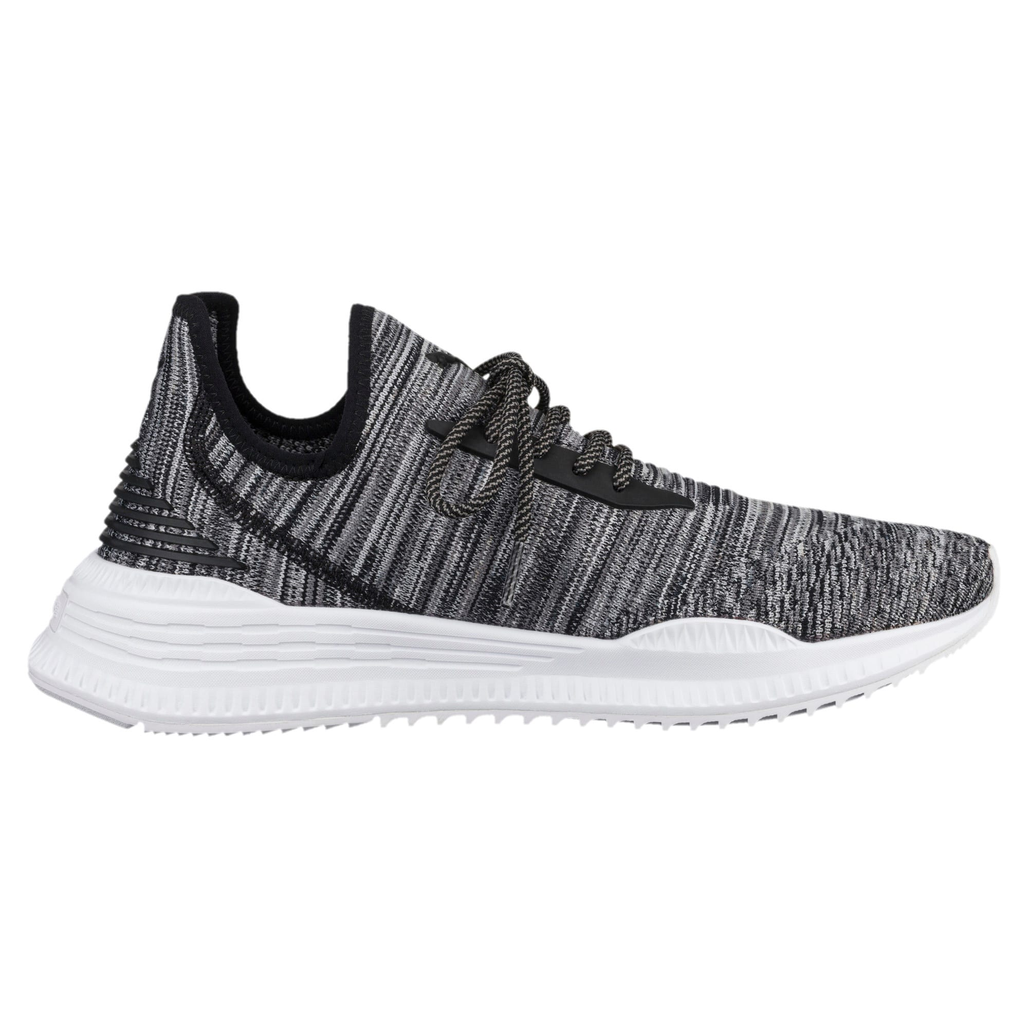 AVID evoKNIT Summer Running Shoes, P Black-QUIET SHADE-P White, large
