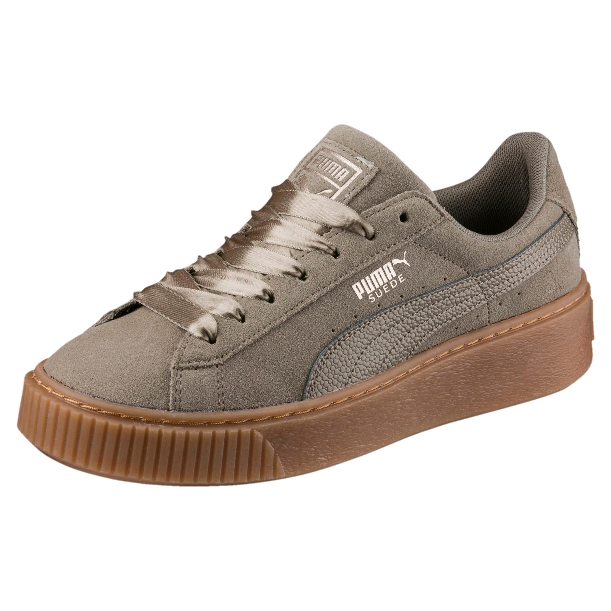 PUMA Suede Platform Bubble Women's Grey Shoes