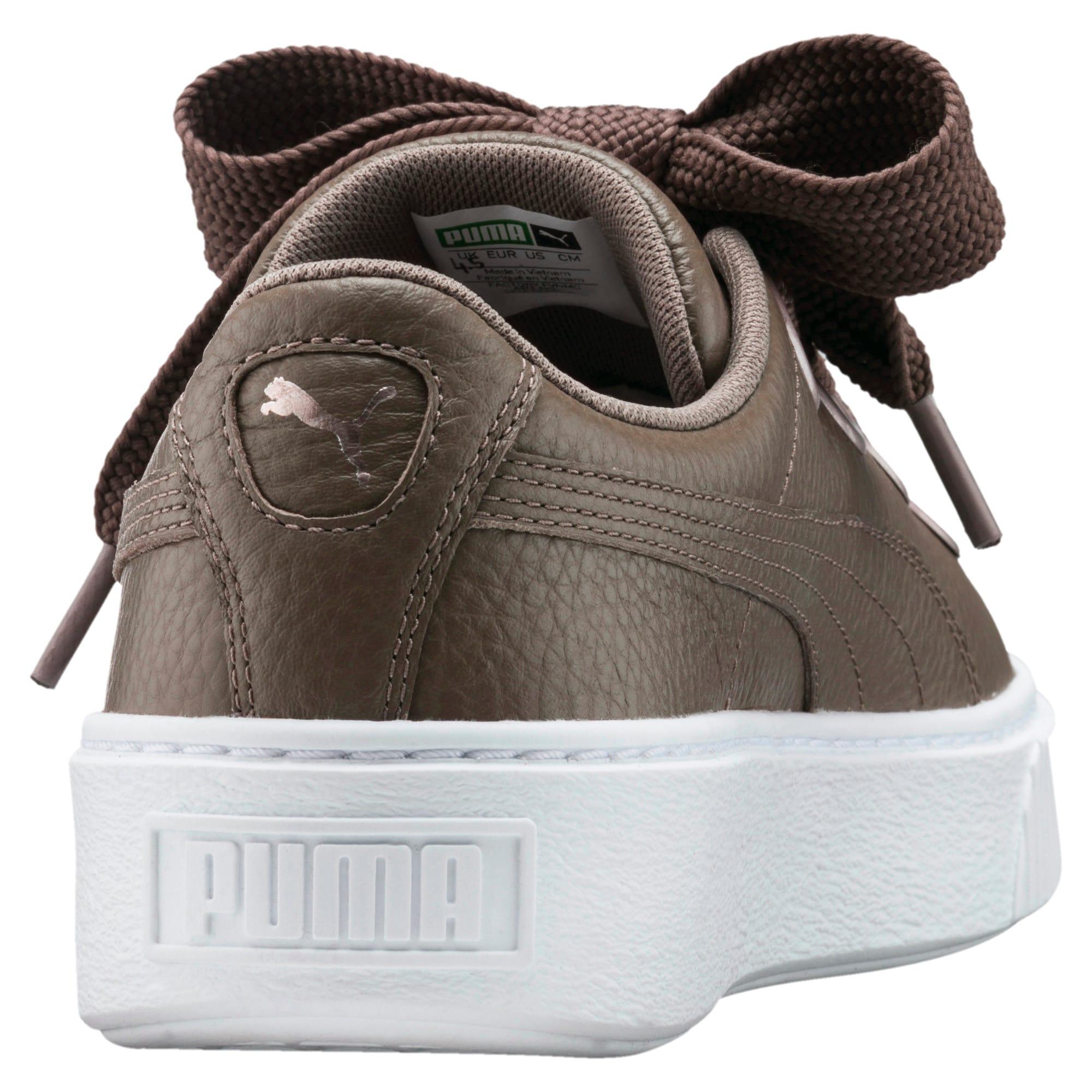 Thumbnail 4 of Platform Kiss Leather Women's Sneakers, Bungee Cord, medium