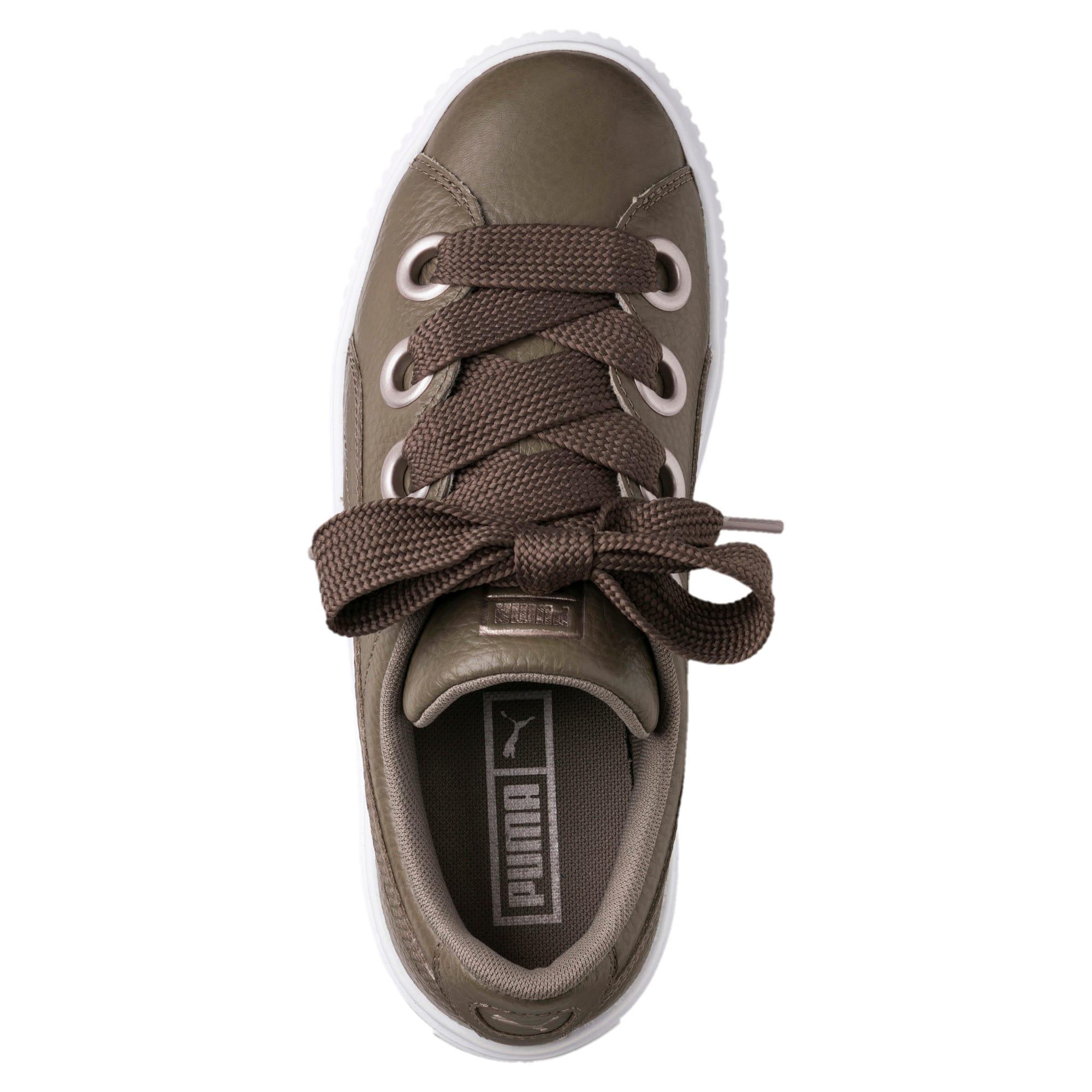 Thumbnail 5 of Platform Kiss Leather Women's Sneakers, Bungee Cord, medium