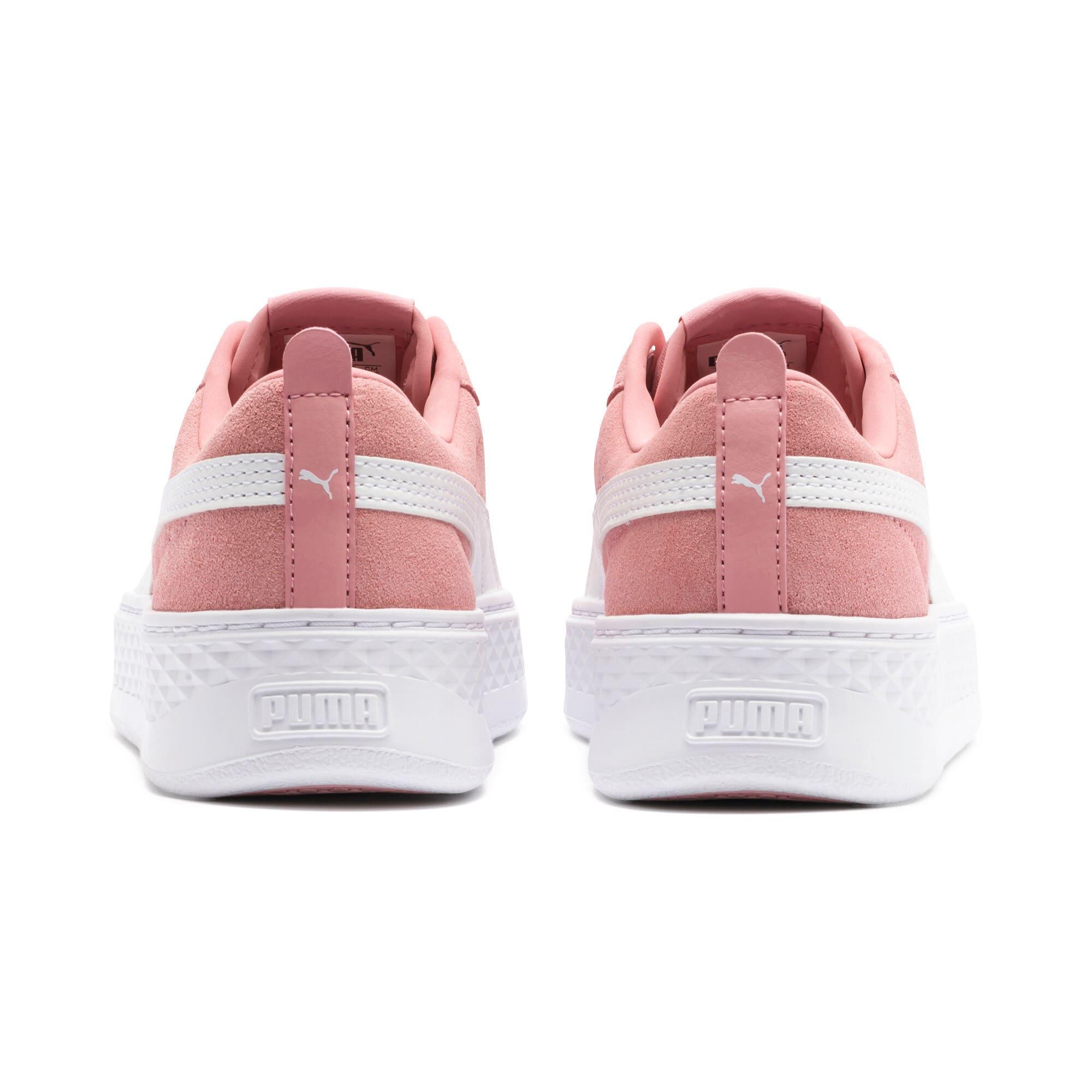 Thumbnail 4 of PUMA Smash Platform Suede Women's Sneakers, Bridal Rose-Puma White-Gold, medium