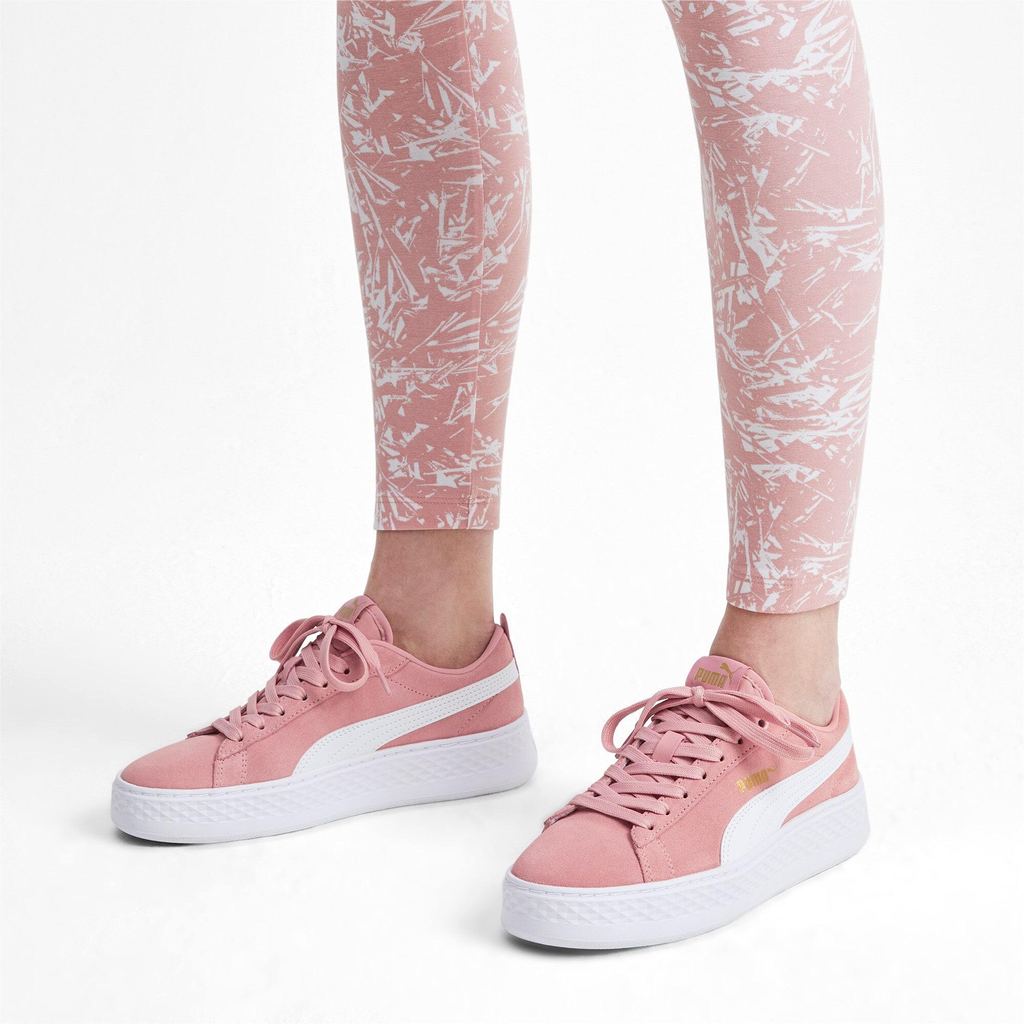 Thumbnail 2 of PUMA Smash Platform Suede Women's Sneakers, Bridal Rose-Puma White-Gold, medium