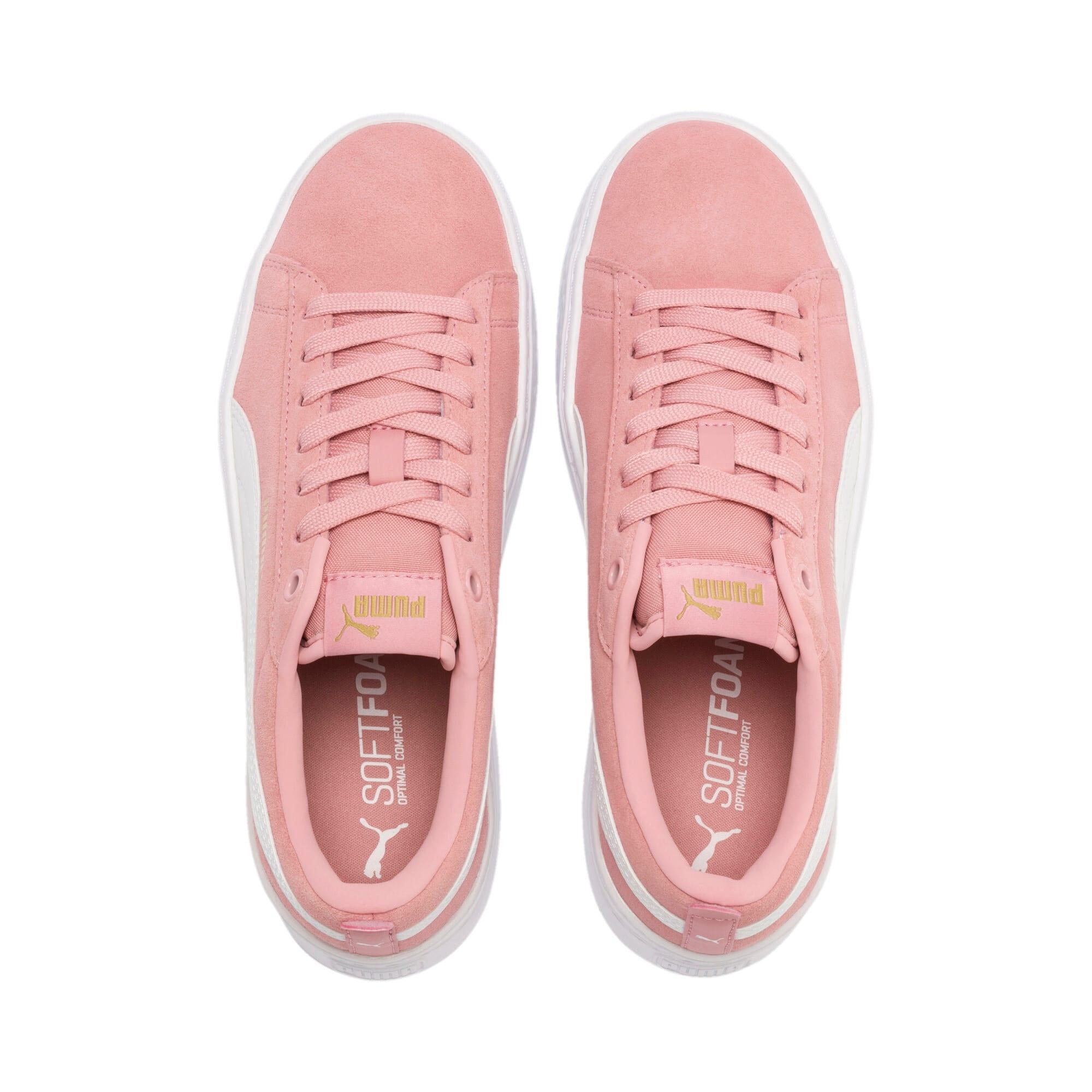 Thumbnail 7 of PUMA Smash Platform Suede Women's Sneakers, Bridal Rose-Puma White-Gold, medium