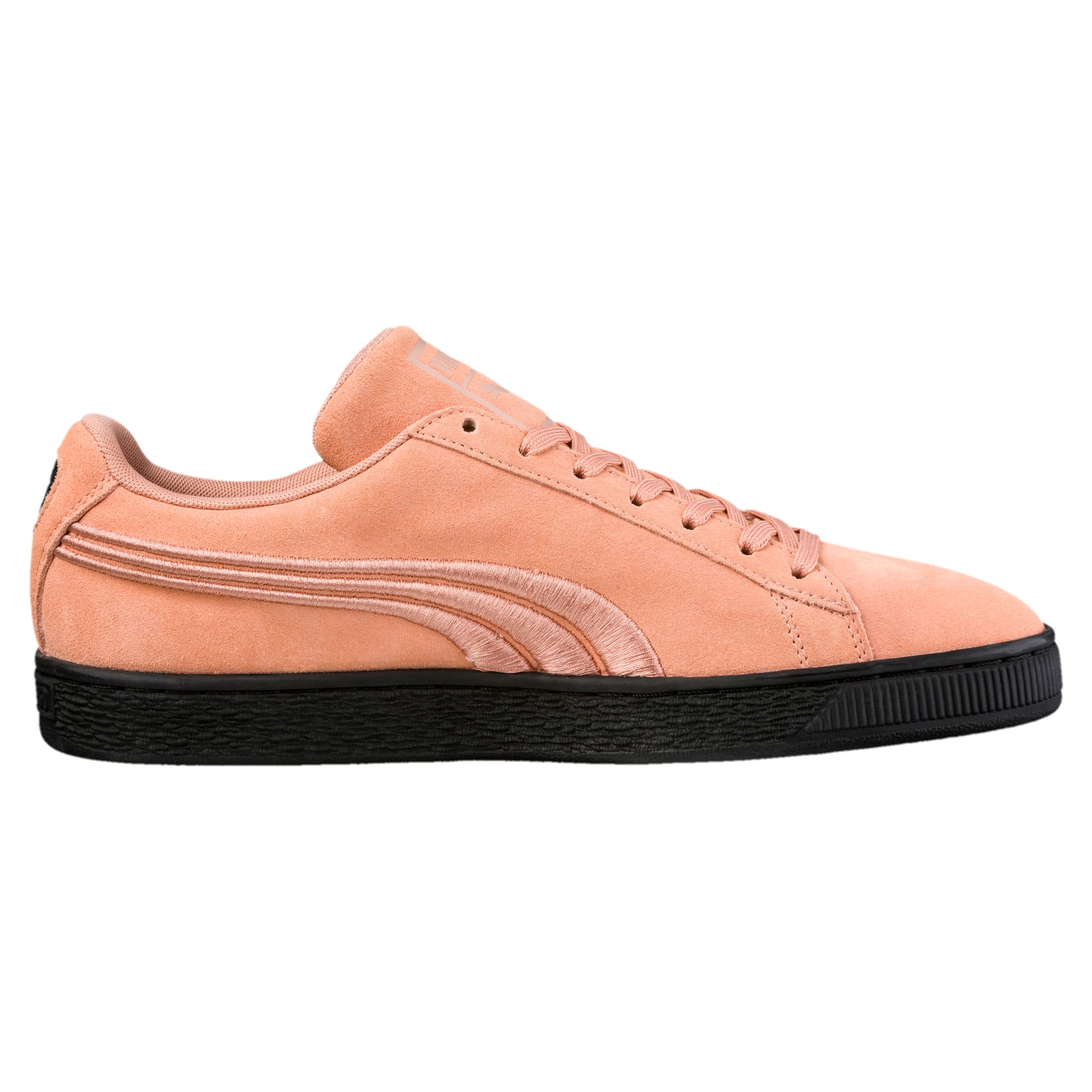 Thumbnail 3 of Suede Classic Badge Flip Sneakers, Muted Clay-Puma Black, medium