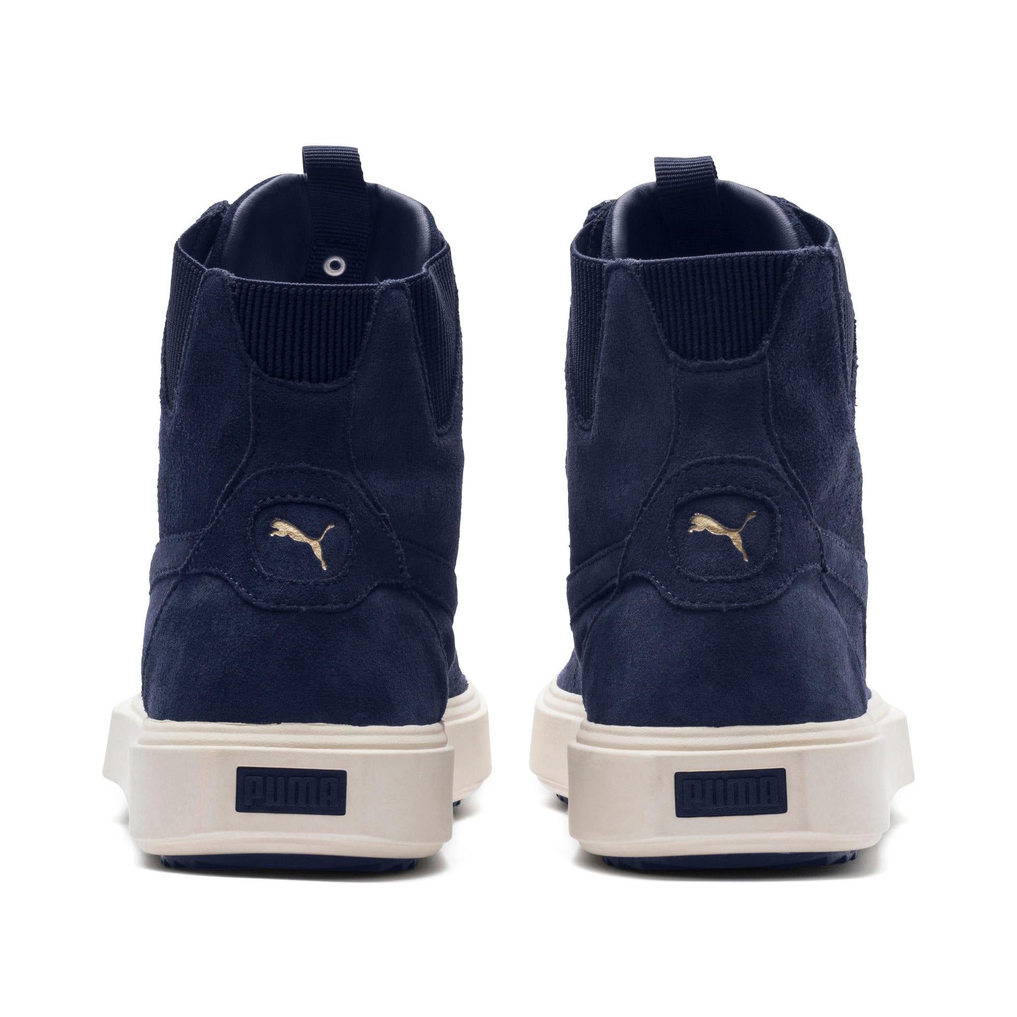 Thumbnail 4 of PUMA Breaker Hi Evolution Sneakers, Peacoat-Whisper White, medium