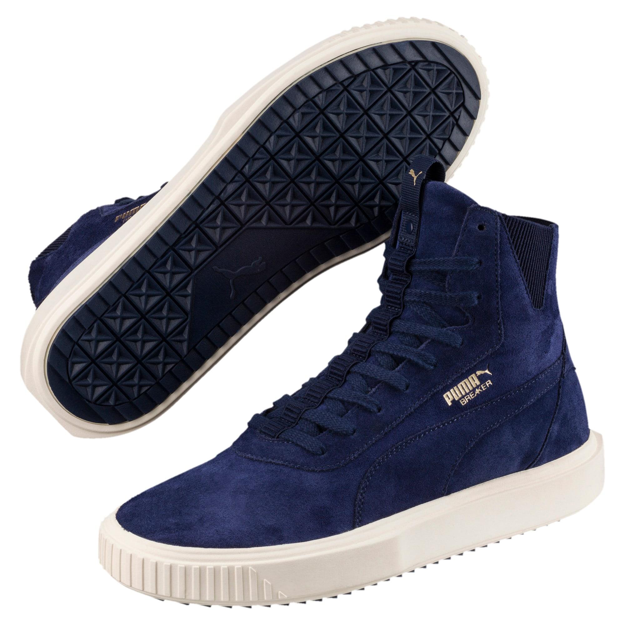 Thumbnail 2 of PUMA Breaker Hi Evolution Sneakers, Peacoat-Whisper White, medium