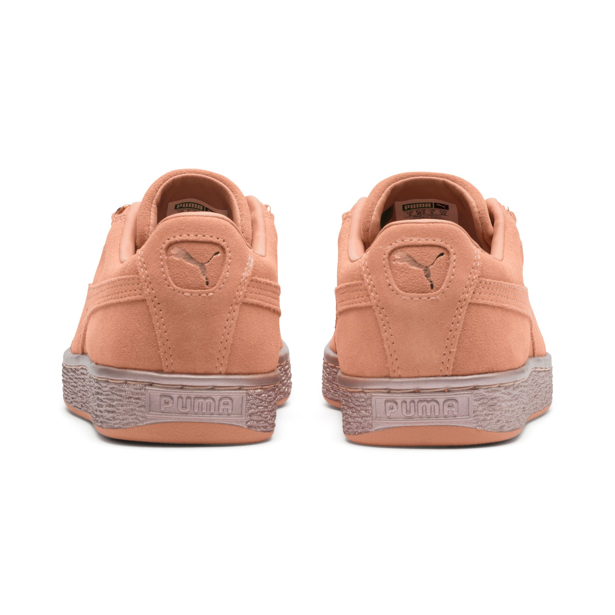 Thumbnail 4 of Suede Classic X-Chain Sneakers JR, Dusty Coral-Rose Gold, medium