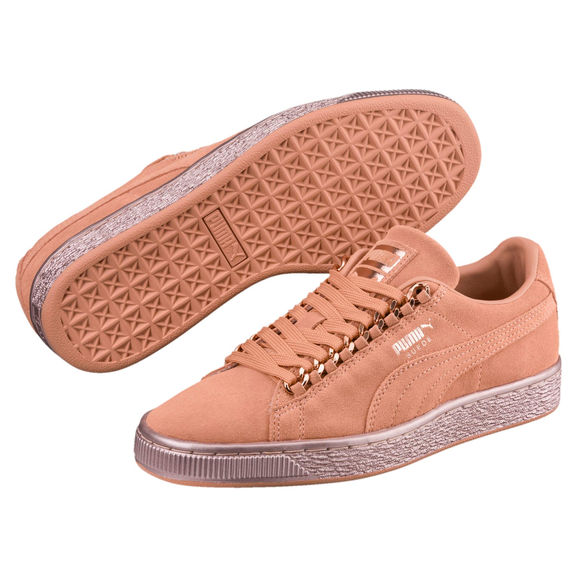 Miniatura 2 de Zapatos deportivos Suede Classic X-Chain para junior, Dusty Coral-Rose Gold, mediano