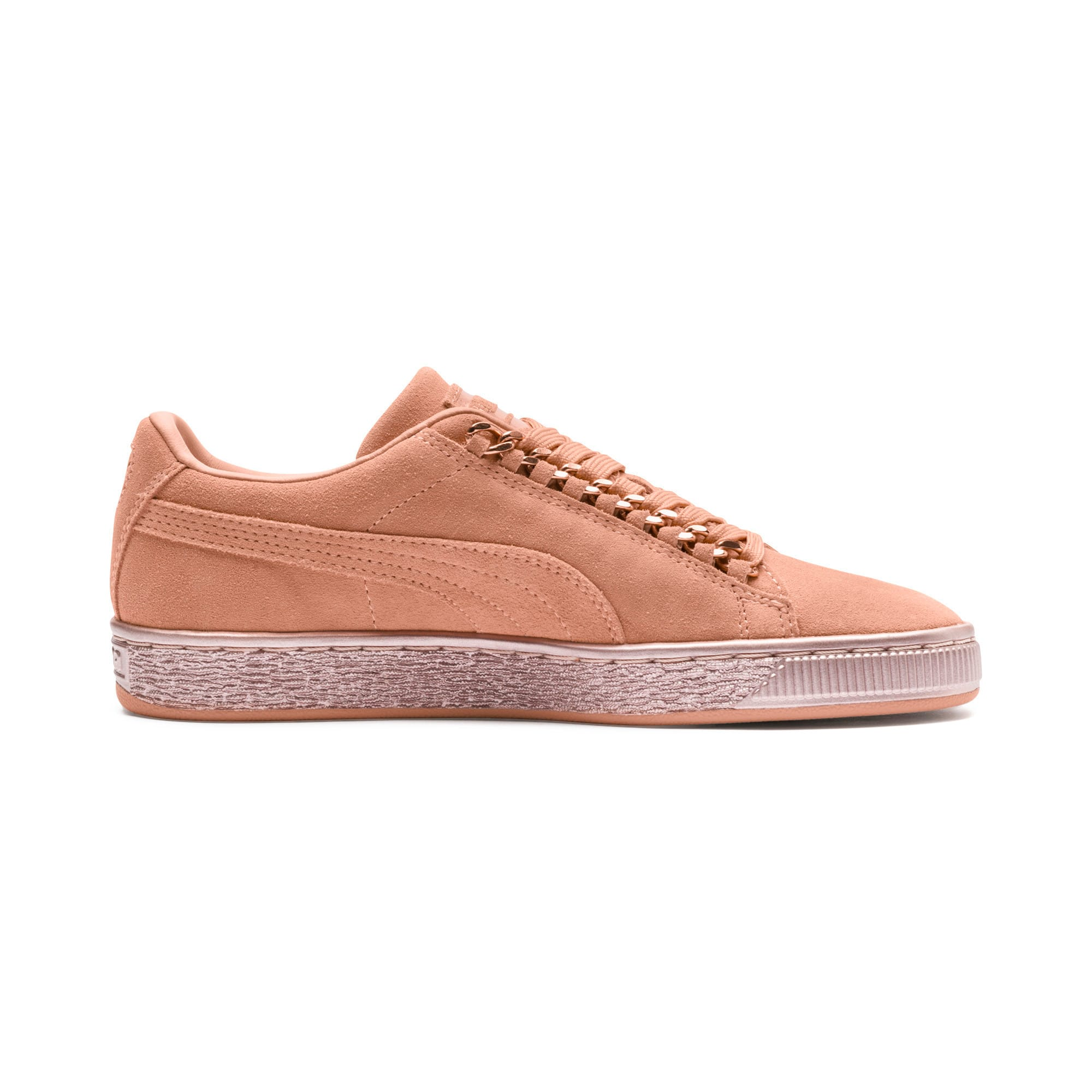 Thumbnail 5 of Suede Classic X-Chain Sneakers JR, Dusty Coral-Rose Gold, medium
