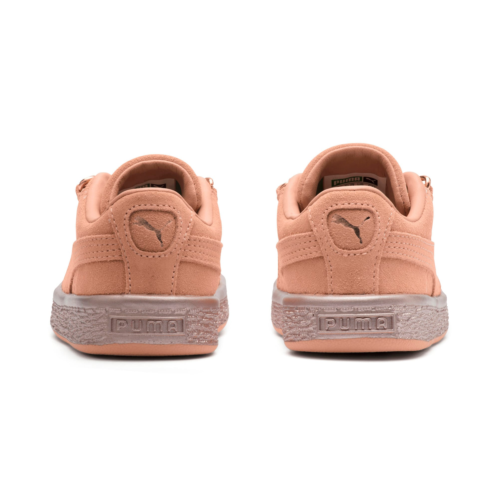 Thumbnail 4 of Suede Classic X-Chain Little Kids' Shoes, Dusty Coral-Rose Gold, medium