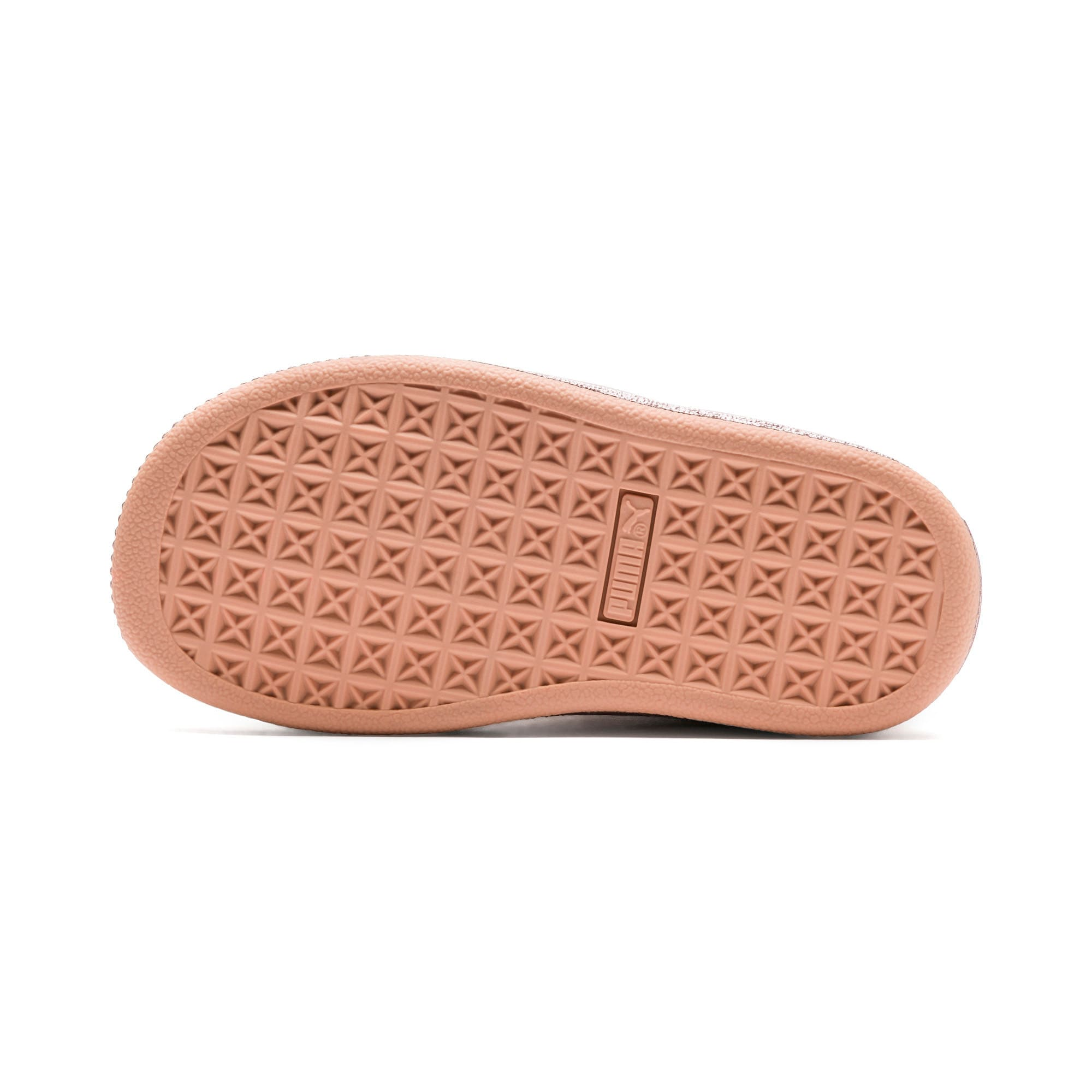 Thumbnail 3 of Suede Classic X-Chain Little Kids' Shoes, Dusty Coral-Rose Gold, medium