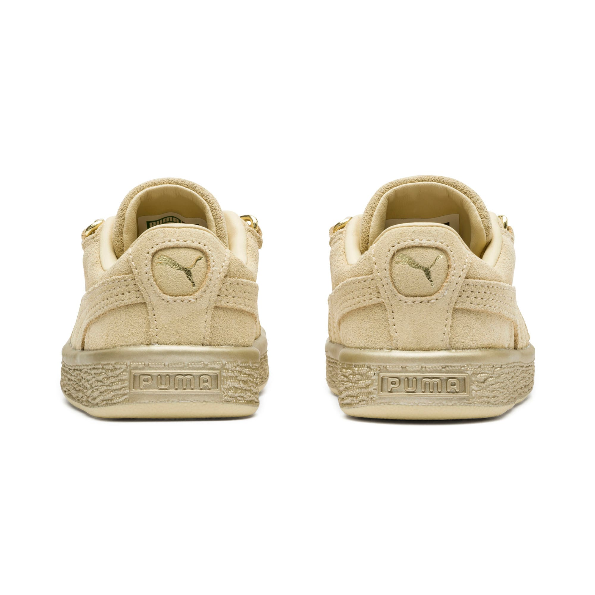 Thumbnail 4 of Suede Classic X-Chain Toddler Shoes, Reed Yellow-Metallic Gold, medium