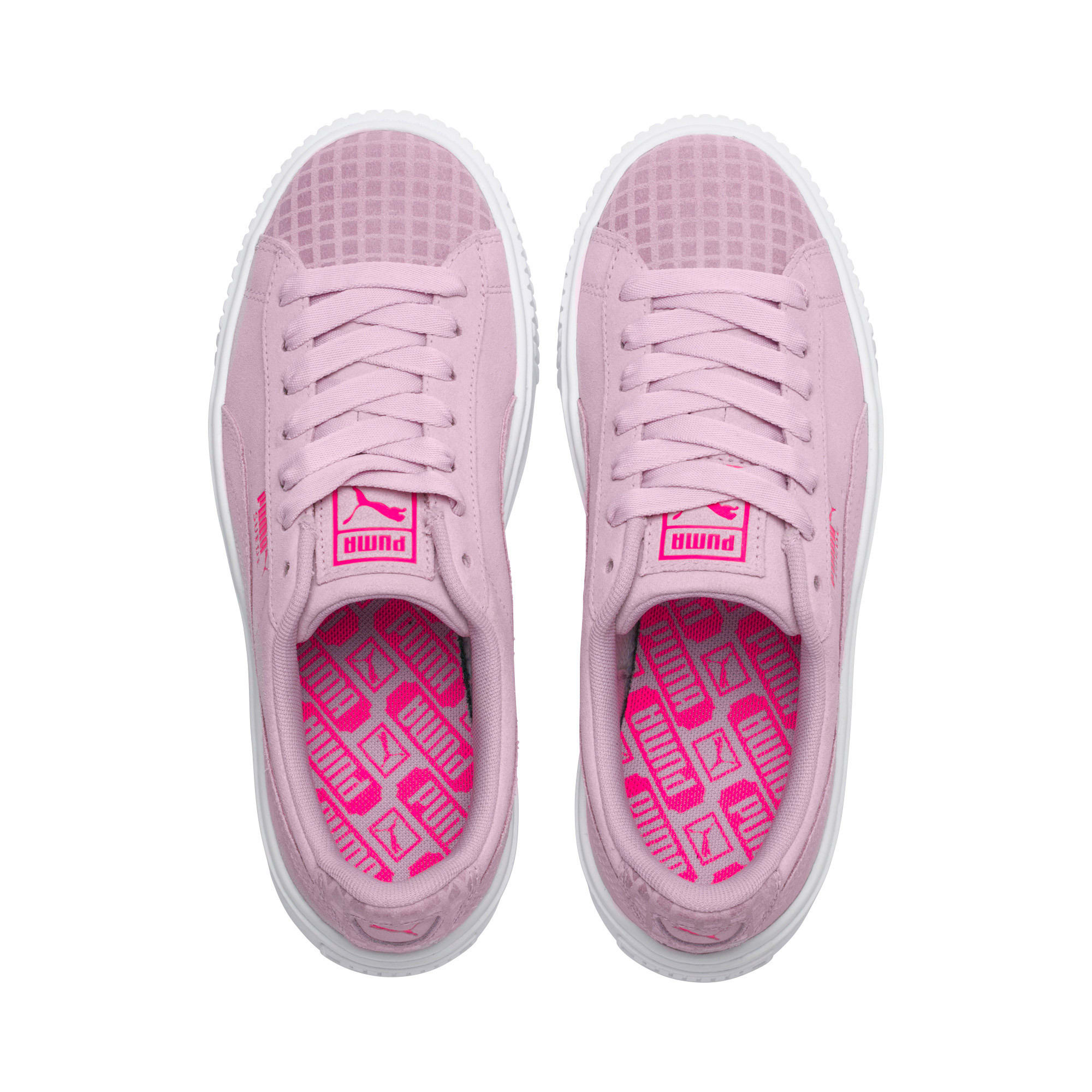Thumbnail 6 of Suede Platform Street 2 Women's Sneakers, Winsome Orchid, medium