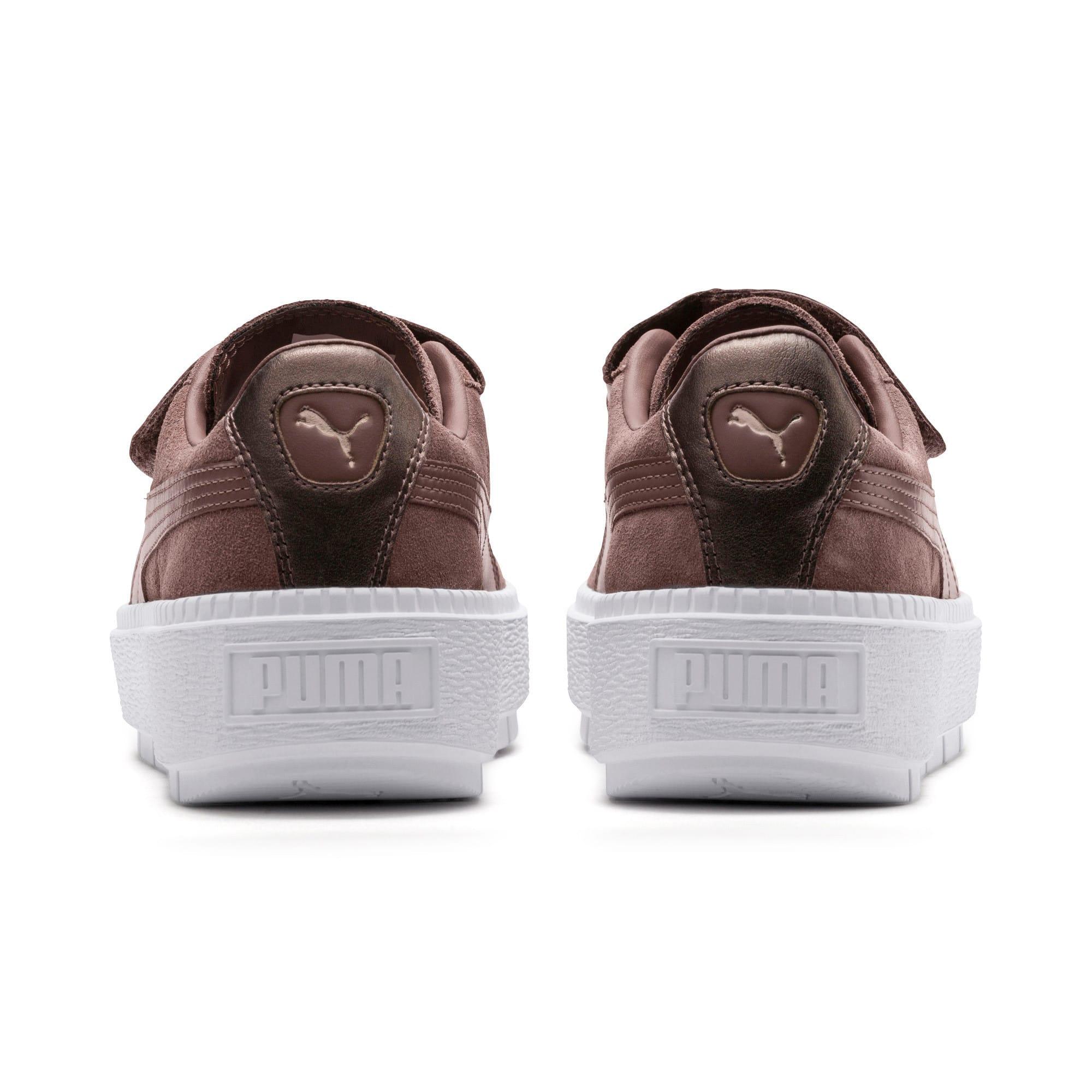 Thumbnail 4 of Platform Trace Strap Esc Women's Sneakers, Peppercorn-Peppercorn, medium