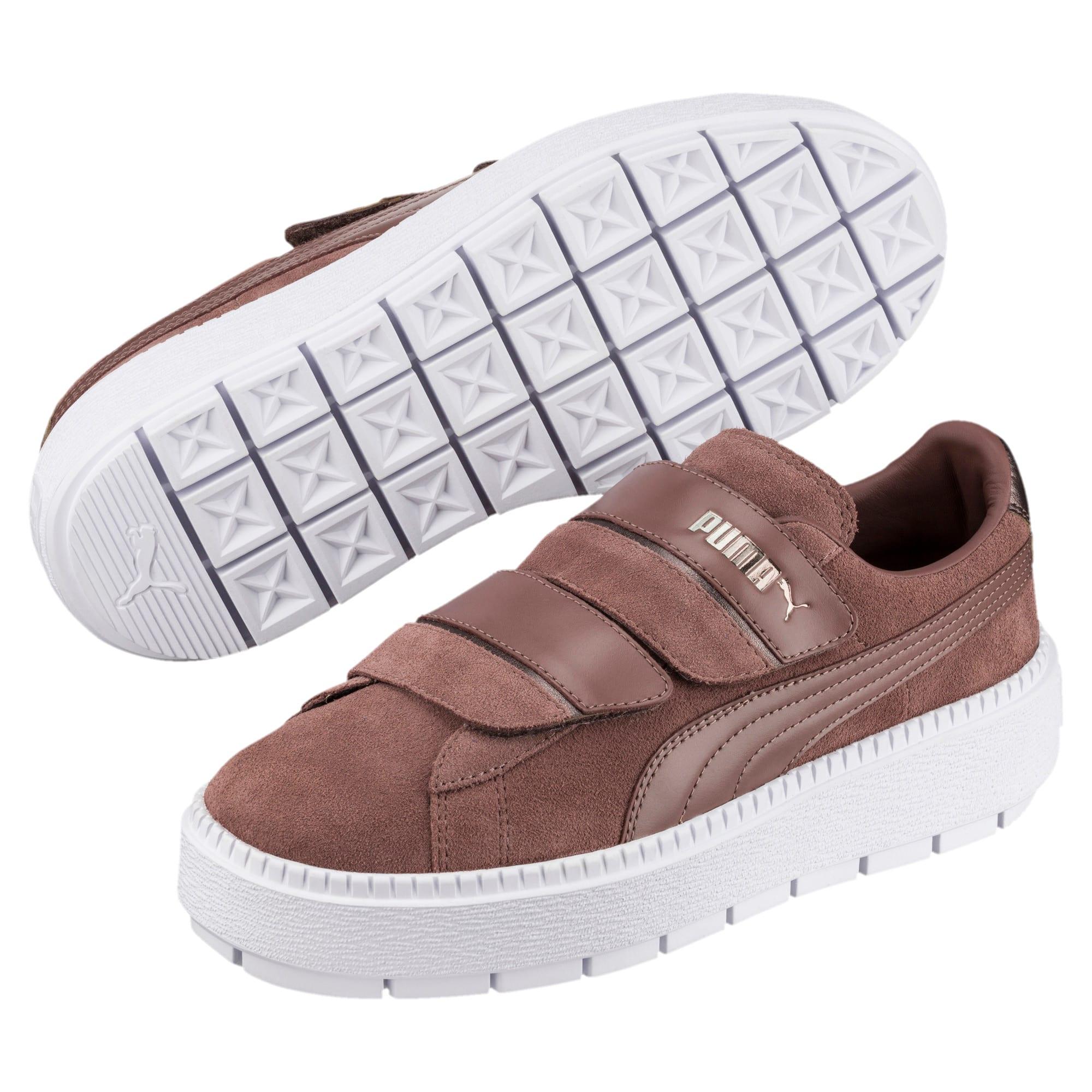 Thumbnail 2 of Platform Trace Strap Esc Women's Sneakers, Peppercorn-Peppercorn, medium