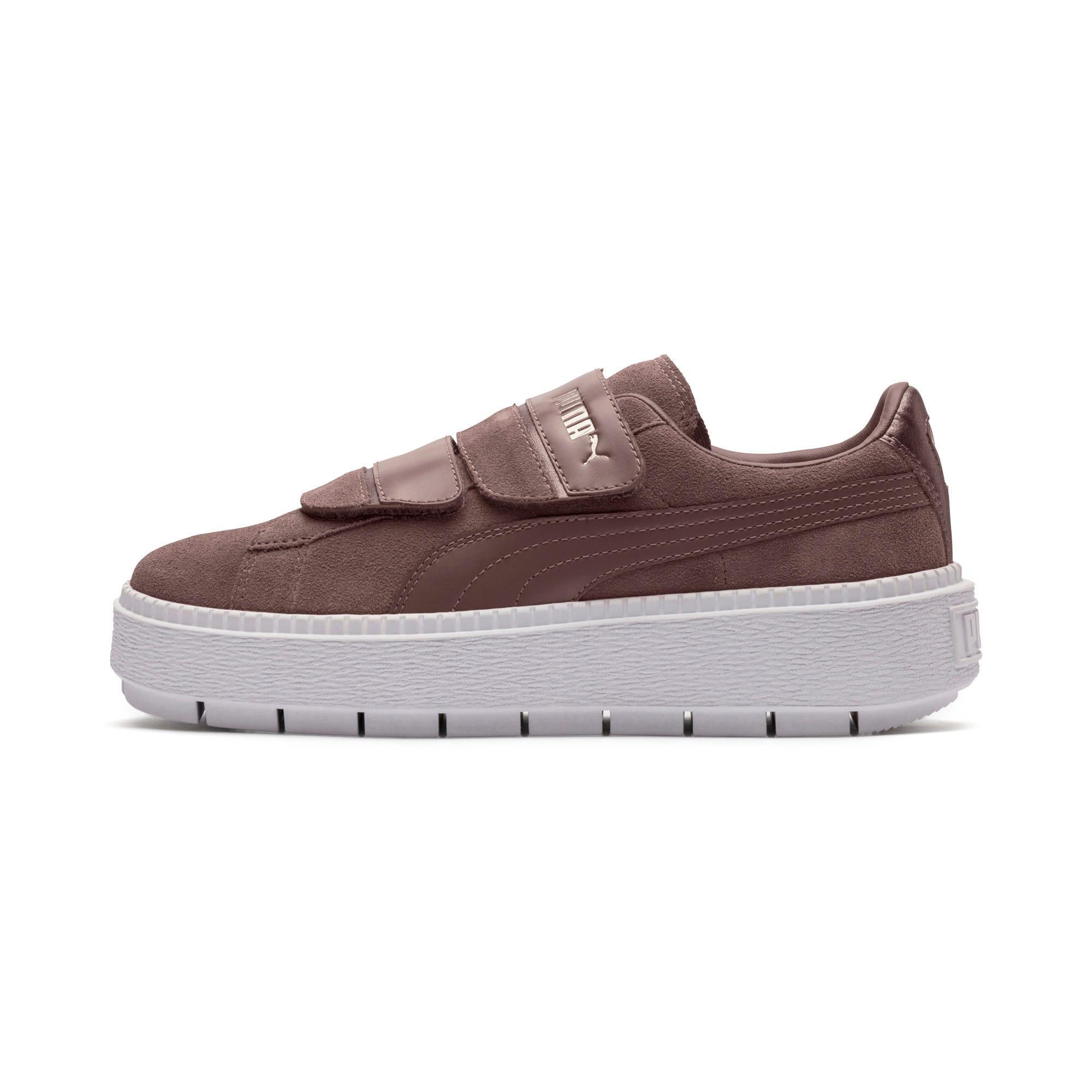 Thumbnail 1 of Platform Trace Strap Esc Women's Sneakers, Peppercorn-Peppercorn, medium