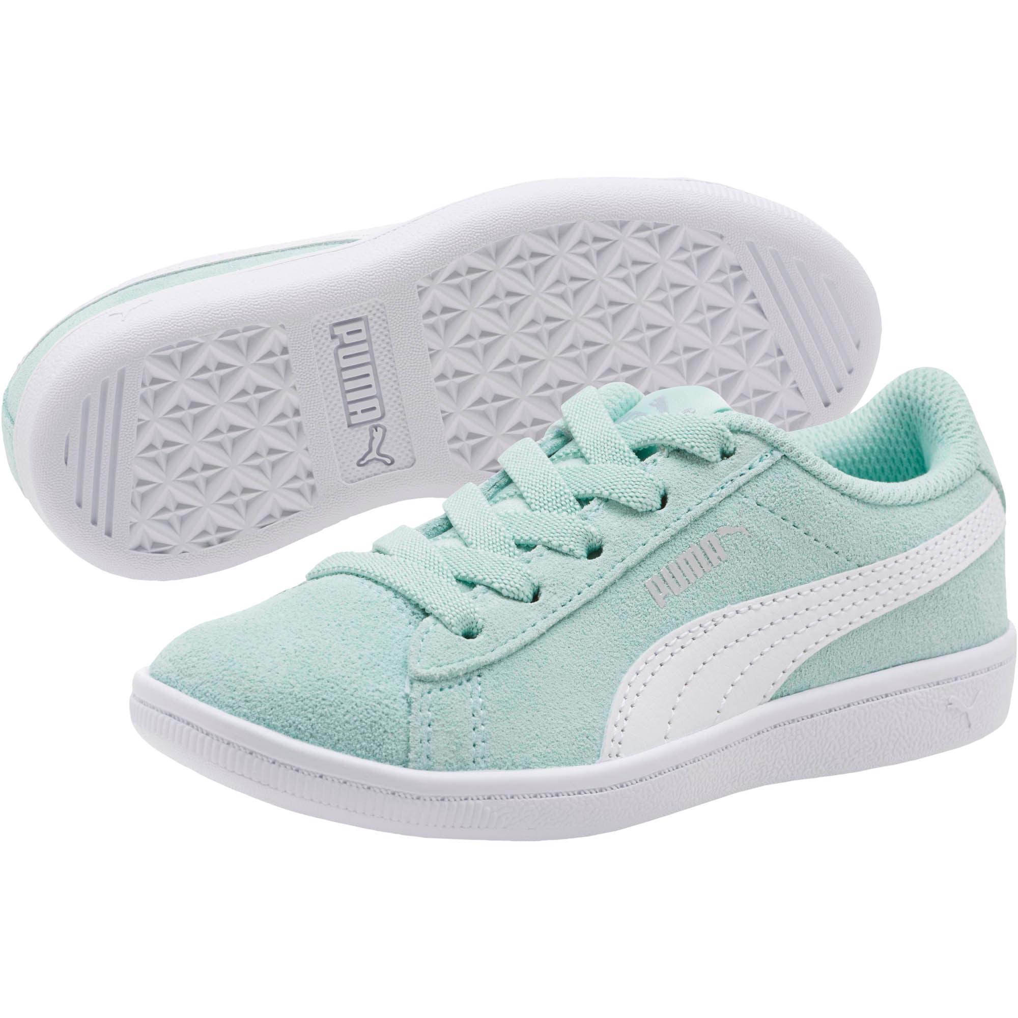 Thumbnail 2 of PUMA Vikky AC Little Kids' Shoes, Fair Aqua-Puma White, medium
