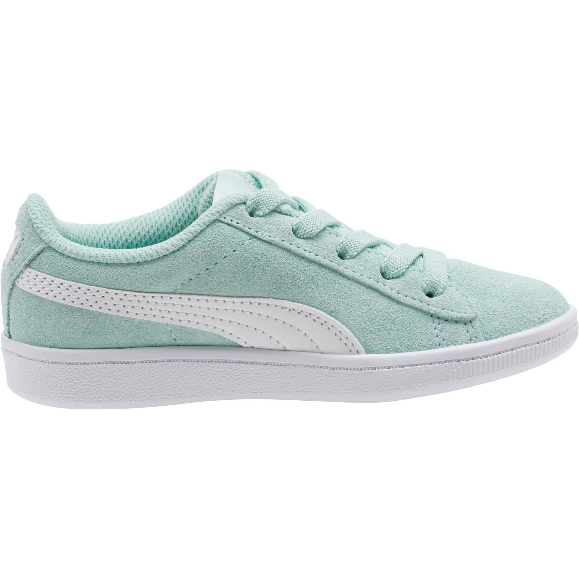 Thumbnail 3 of PUMA Vikky AC Little Kids' Shoes, Fair Aqua-Puma White, medium