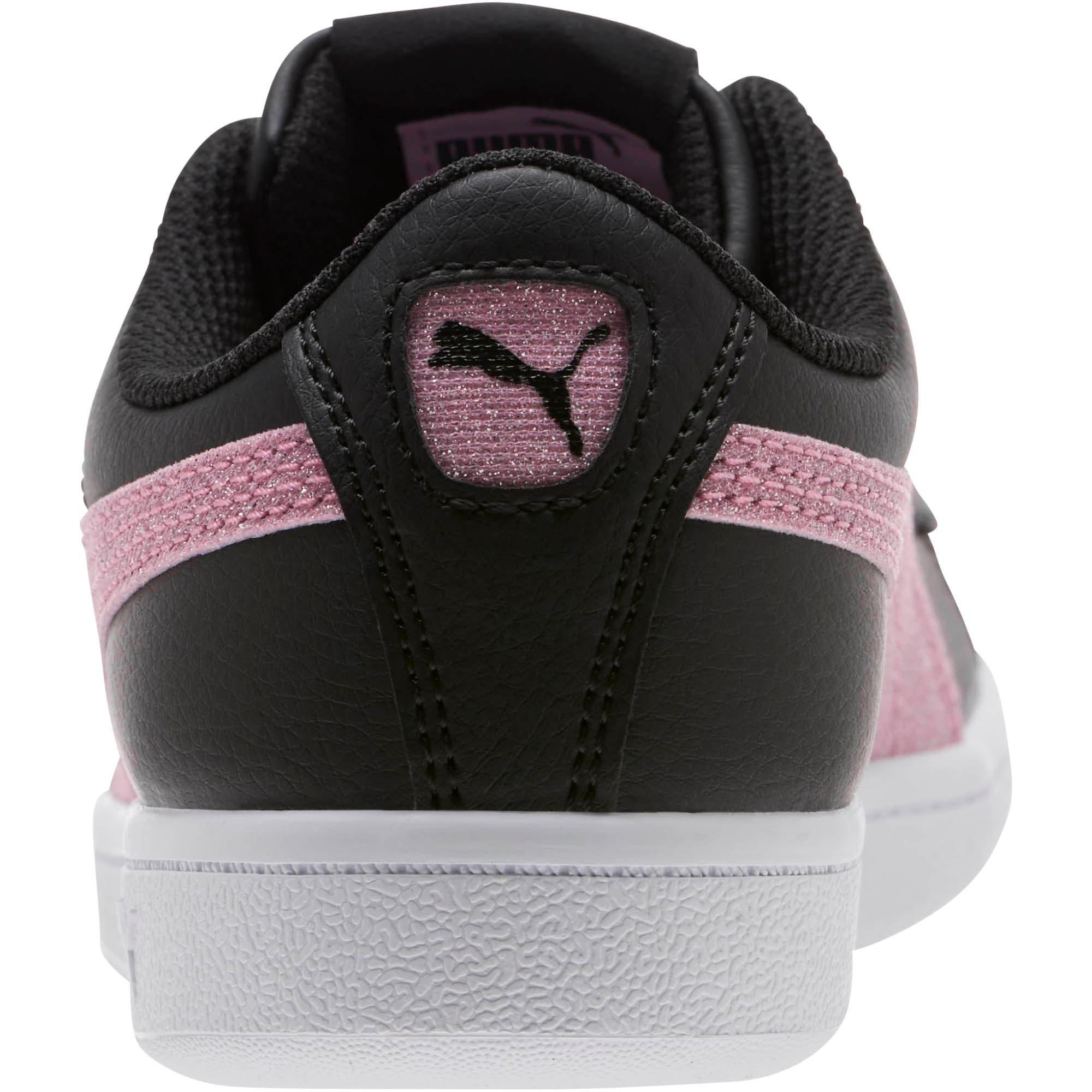 Thumbnail 4 of Puma Vikky Glitz FS Sneakers JR, Black-Orchid-Silver, medium