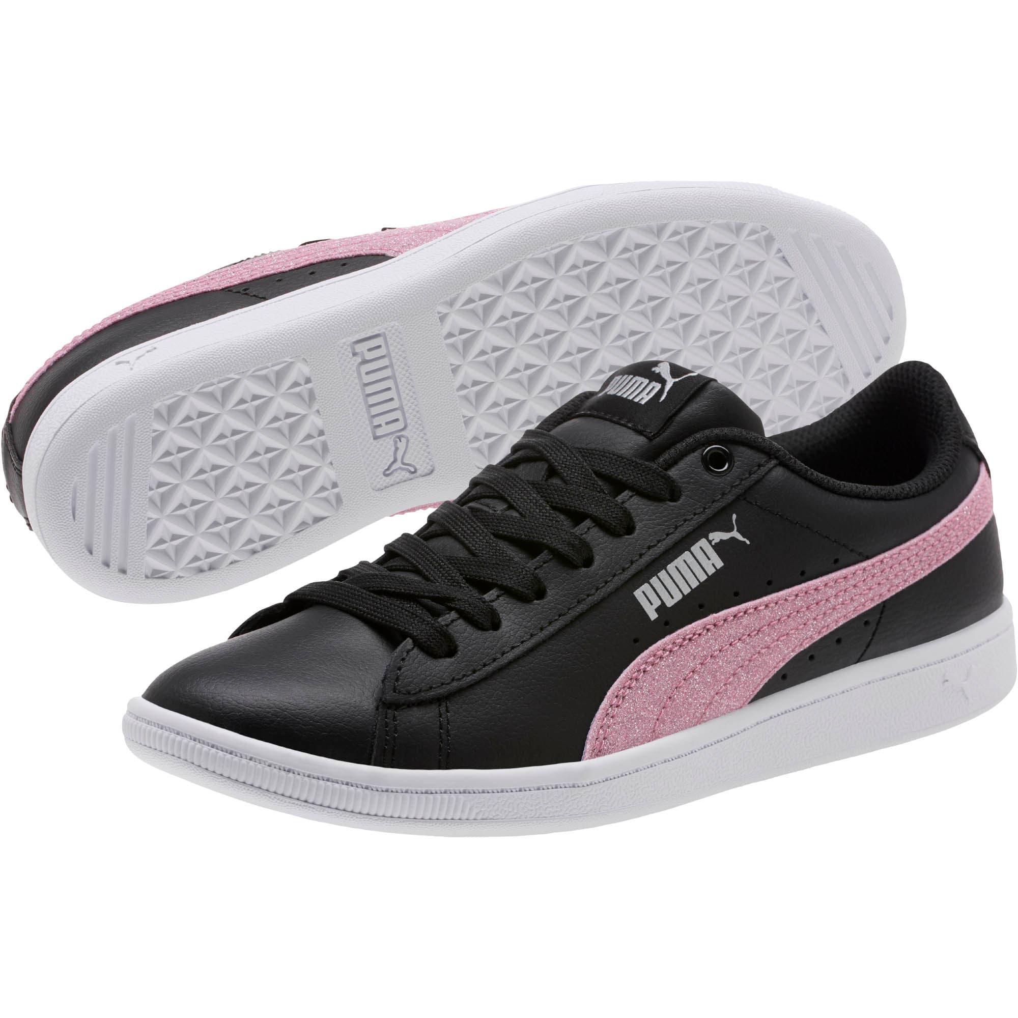 Thumbnail 2 of Puma Vikky Glitz FS Sneakers JR, Black-Orchid-Silver, medium