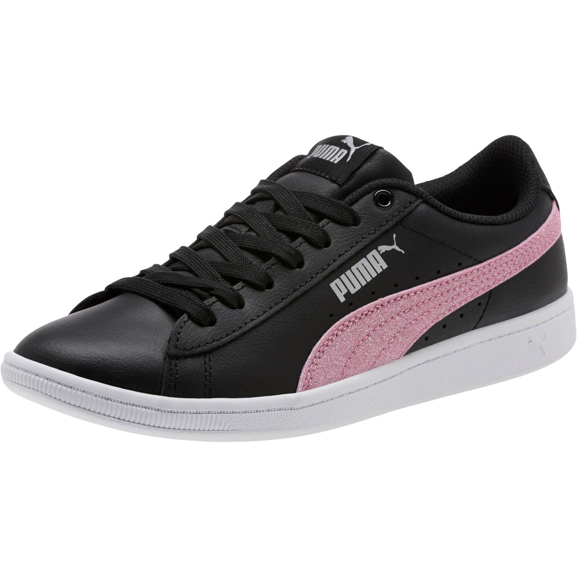 Thumbnail 1 of Puma Vikky Glitz FS Sneakers JR, Black-Orchid-Silver, medium