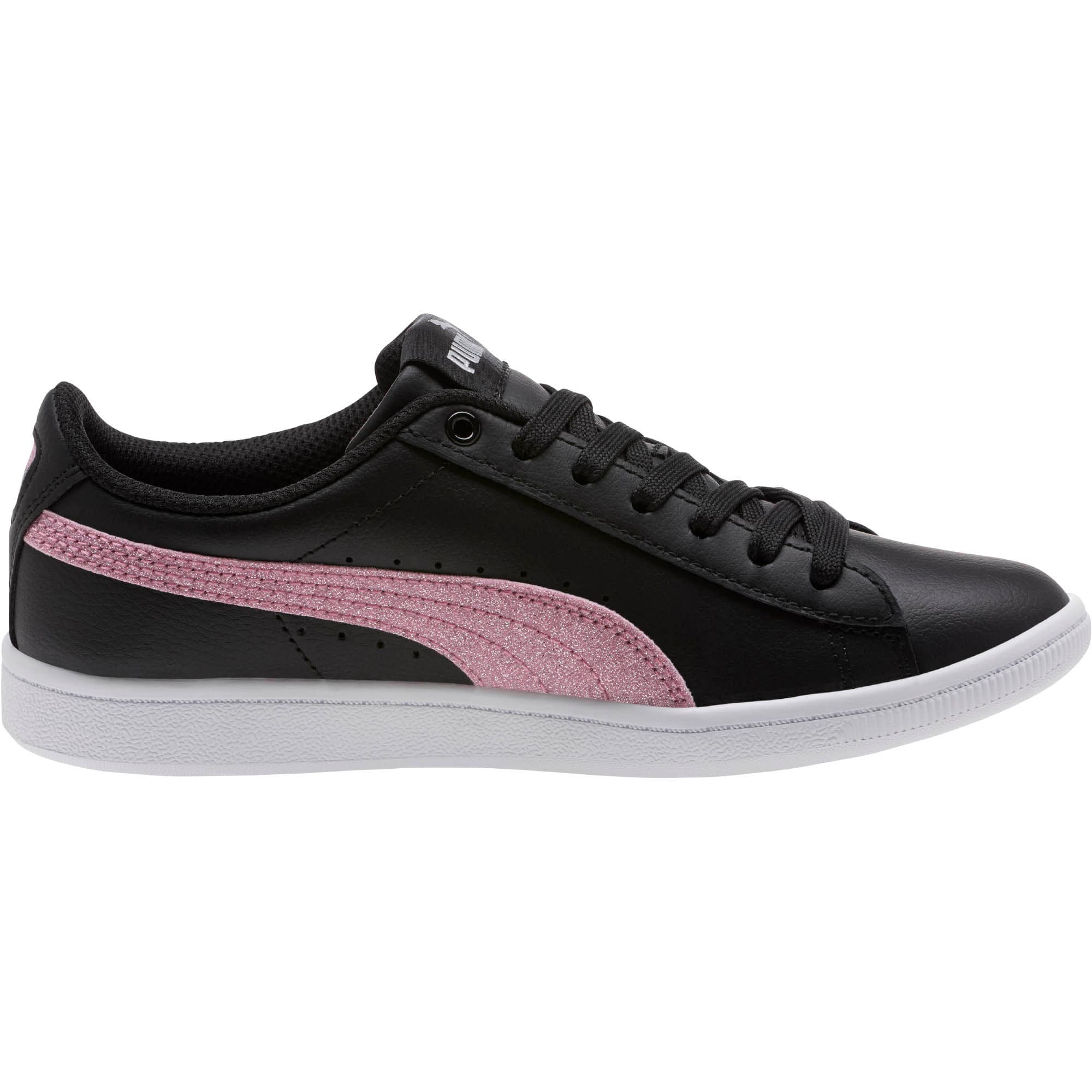 Thumbnail 3 of Puma Vikky Glitz FS Sneakers JR, Black-Orchid-Silver, medium