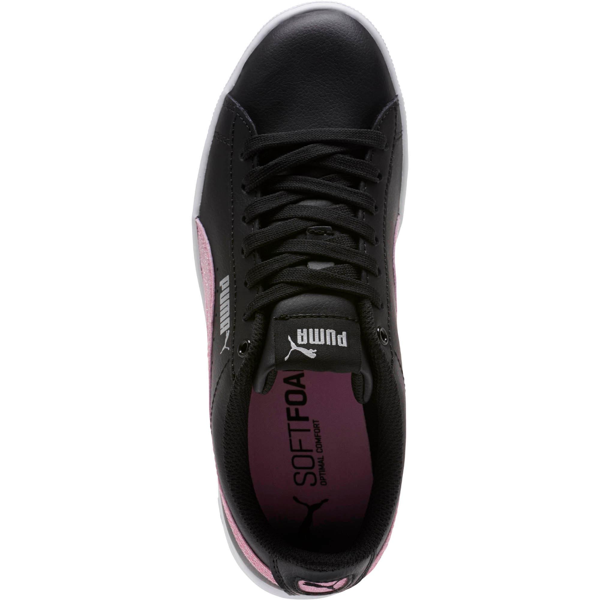 Thumbnail 5 of Puma Vikky Glitz FS Sneakers JR, Black-Orchid-Silver, medium