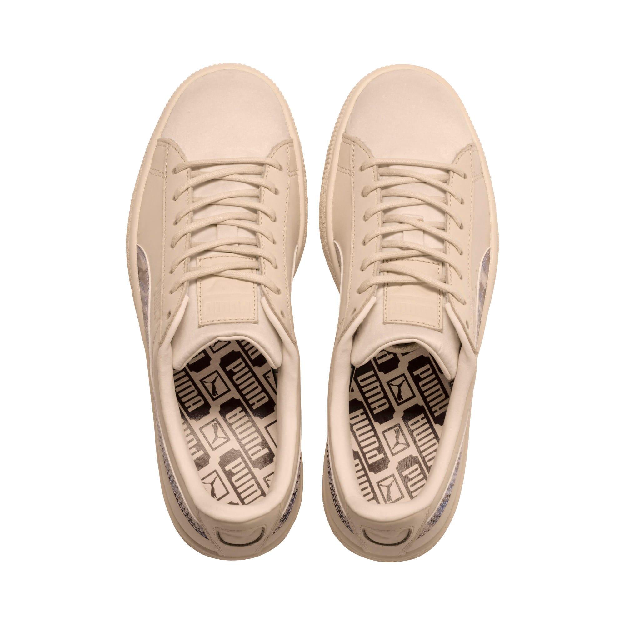 Thumbnail 6 of Basket Classic Mimicry Women's Sneakers, Vanilla Cream-Vanilla Cream, medium