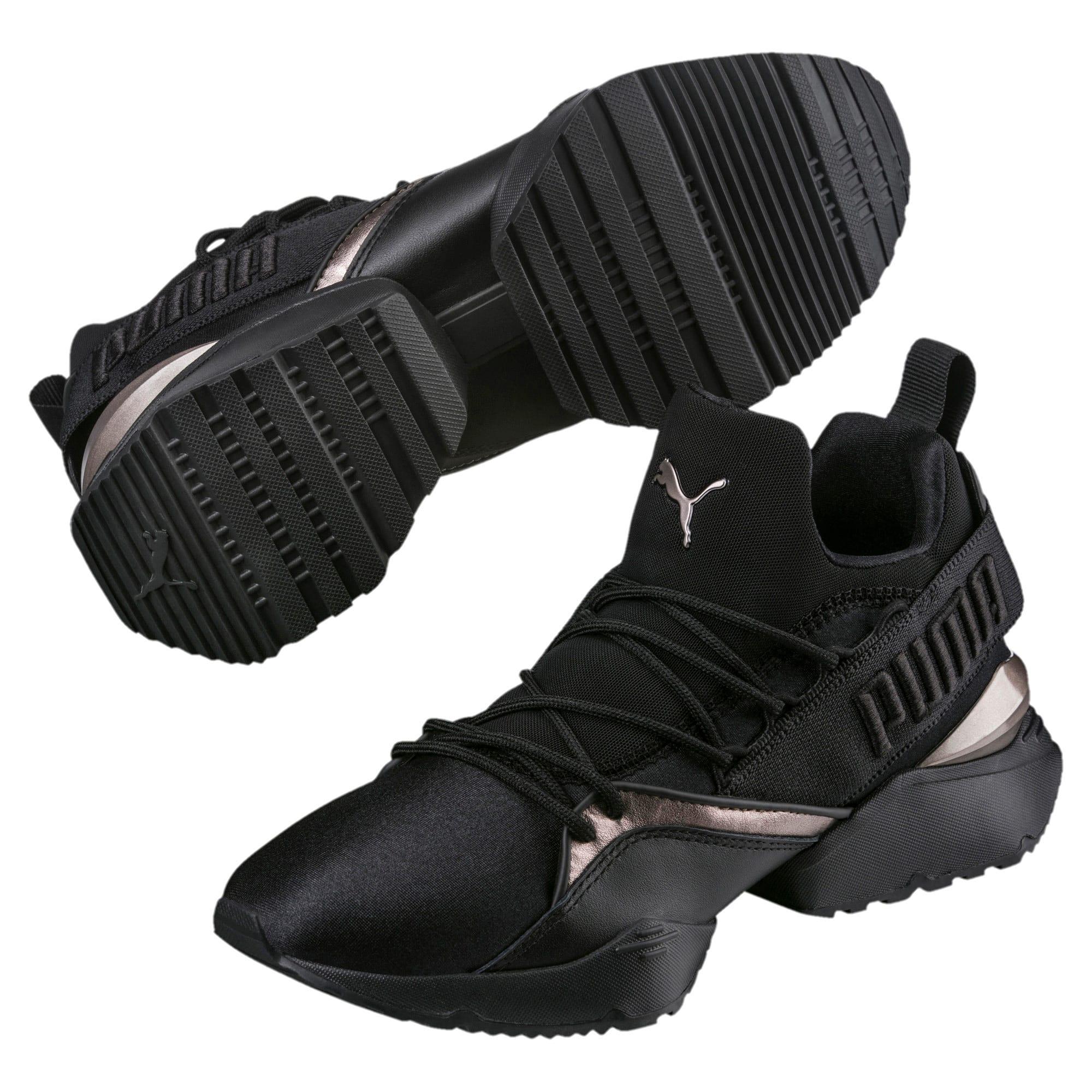 Thumbnail 2 of Muse Maia Luxe Women's Sneakers, Puma Black-Puma Black, medium