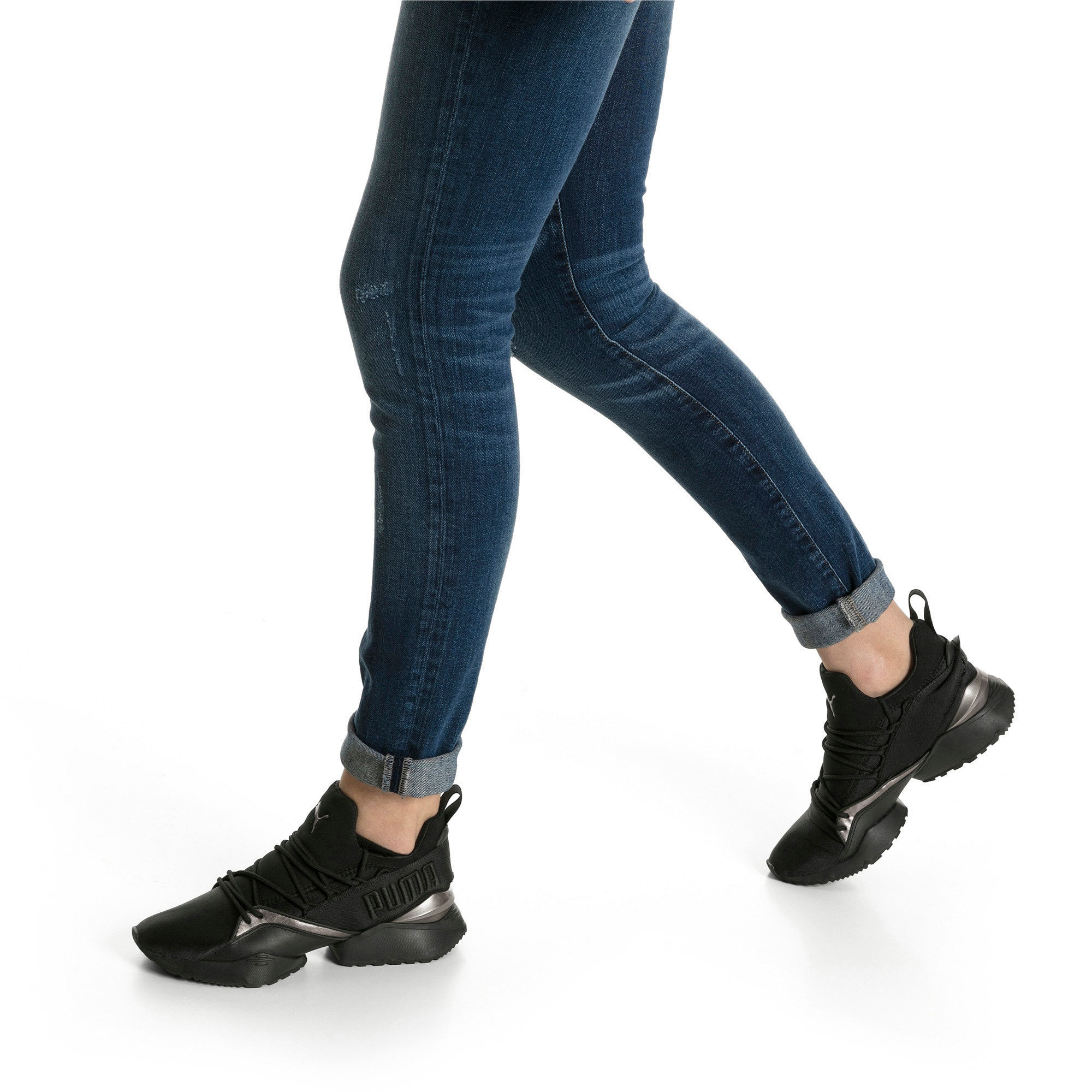 Thumbnail 7 of Muse Maia Luxe Women's Sneakers, Puma Black-Puma Black, medium