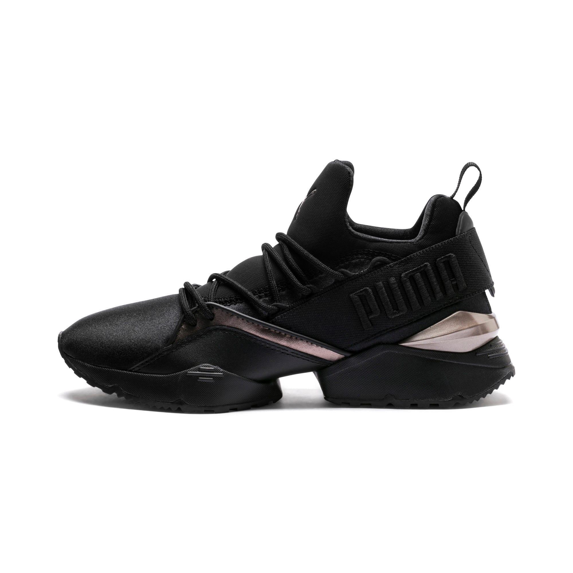 Thumbnail 1 of Muse Maia Luxe Women's Sneakers, Puma Black-Puma Black, medium