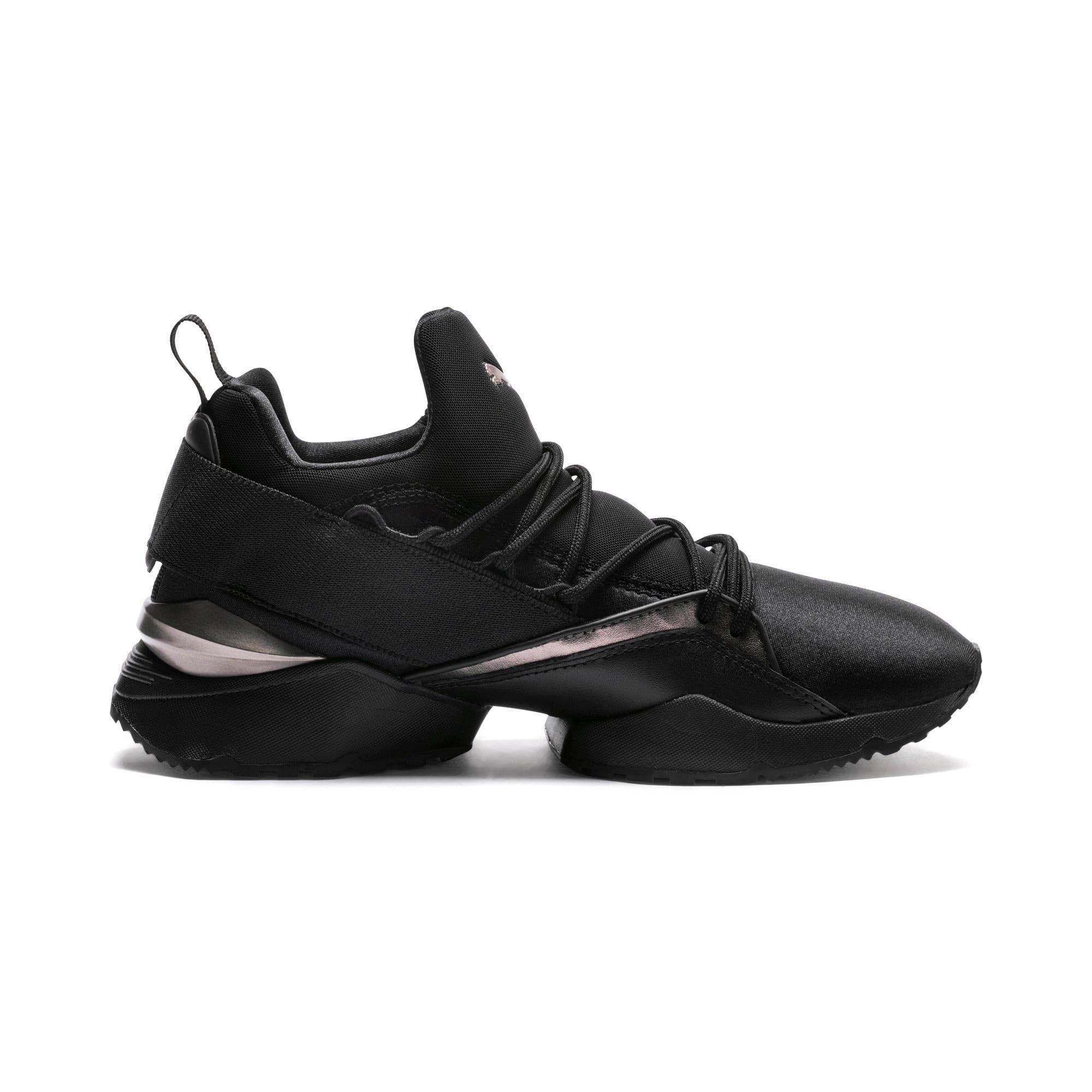 Thumbnail 5 of Muse Maia Luxe Women's Sneakers, Puma Black-Puma Black, medium