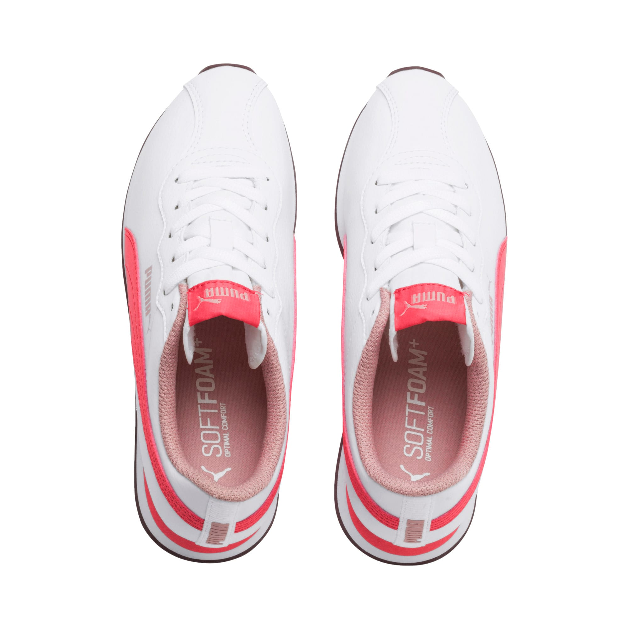 Miniatura 6 de Zapatos deportivos Turin II para JR, Puma White-Calypso Coral, mediano