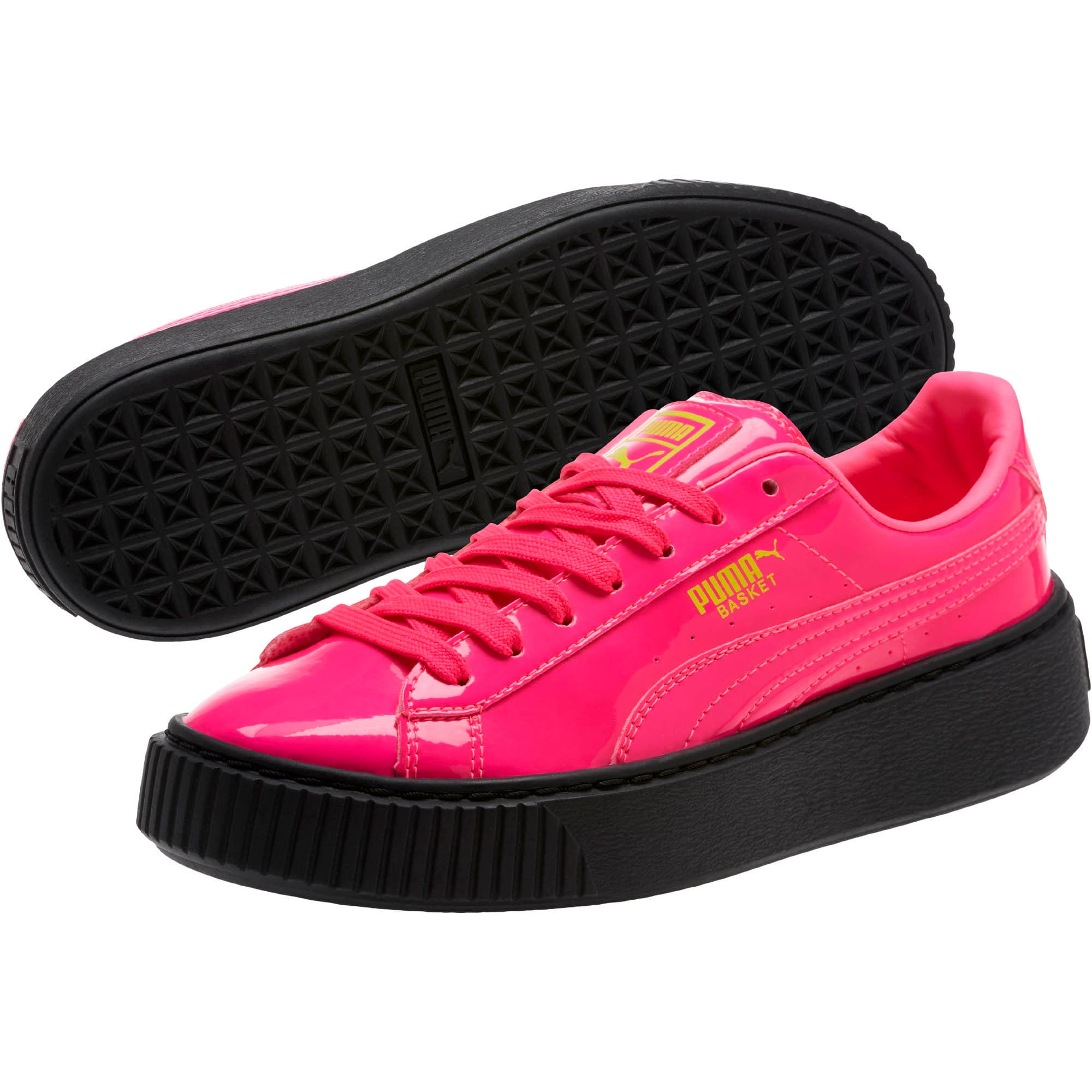 Thumbnail 2 of Basket Platform Block JR  Sneakers, PINK-Sulphur Spr-Black, medium