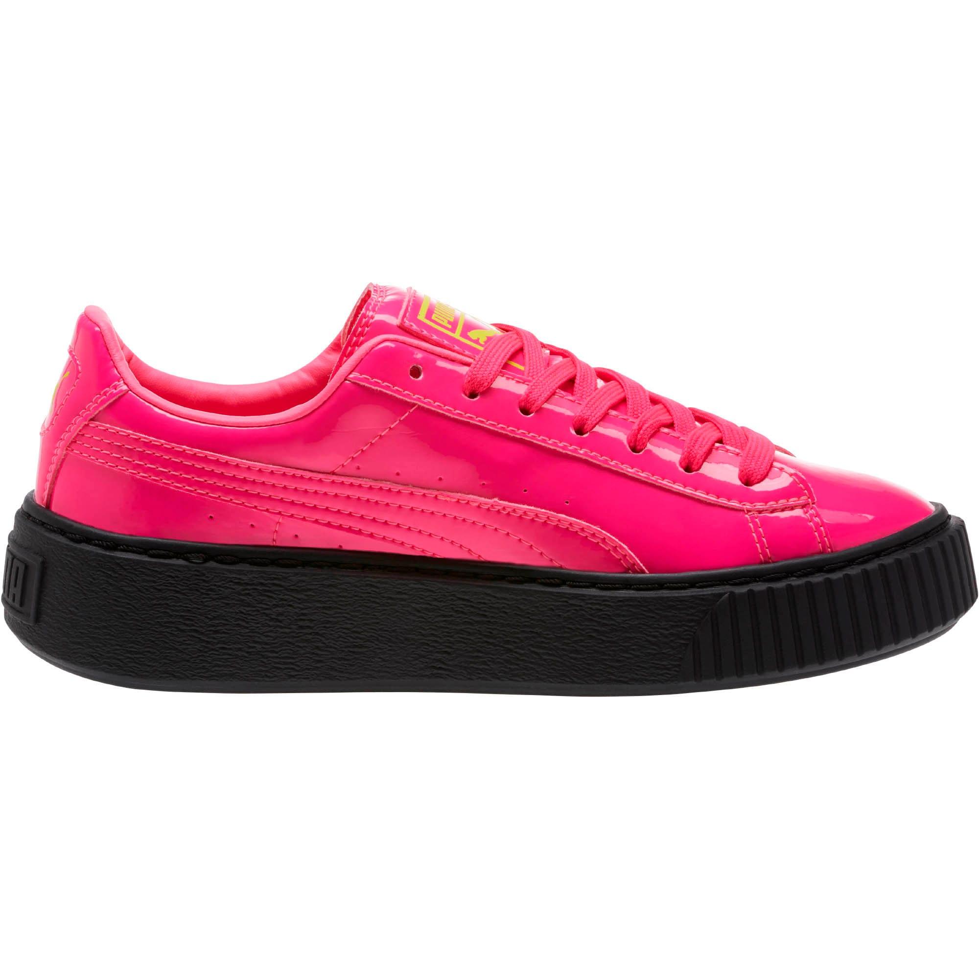 Thumbnail 3 of Basket Platform Block JR  Sneakers, PINK-Sulphur Spr-Black, medium