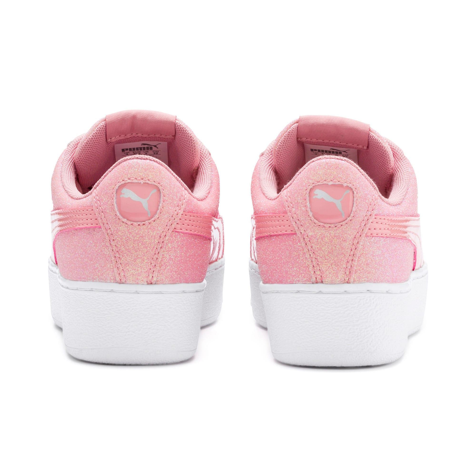 Thumbnail 3 of PUMA Vikky Platform Glitz Sneakers JR, Bridal Rose-Bridal Rose, medium