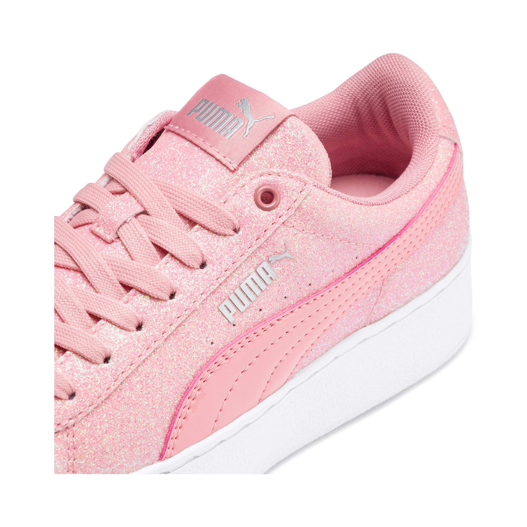 Thumbnail 7 of PUMA Vikky Platform Glitz Sneakers JR, Bridal Rose-Bridal Rose, medium