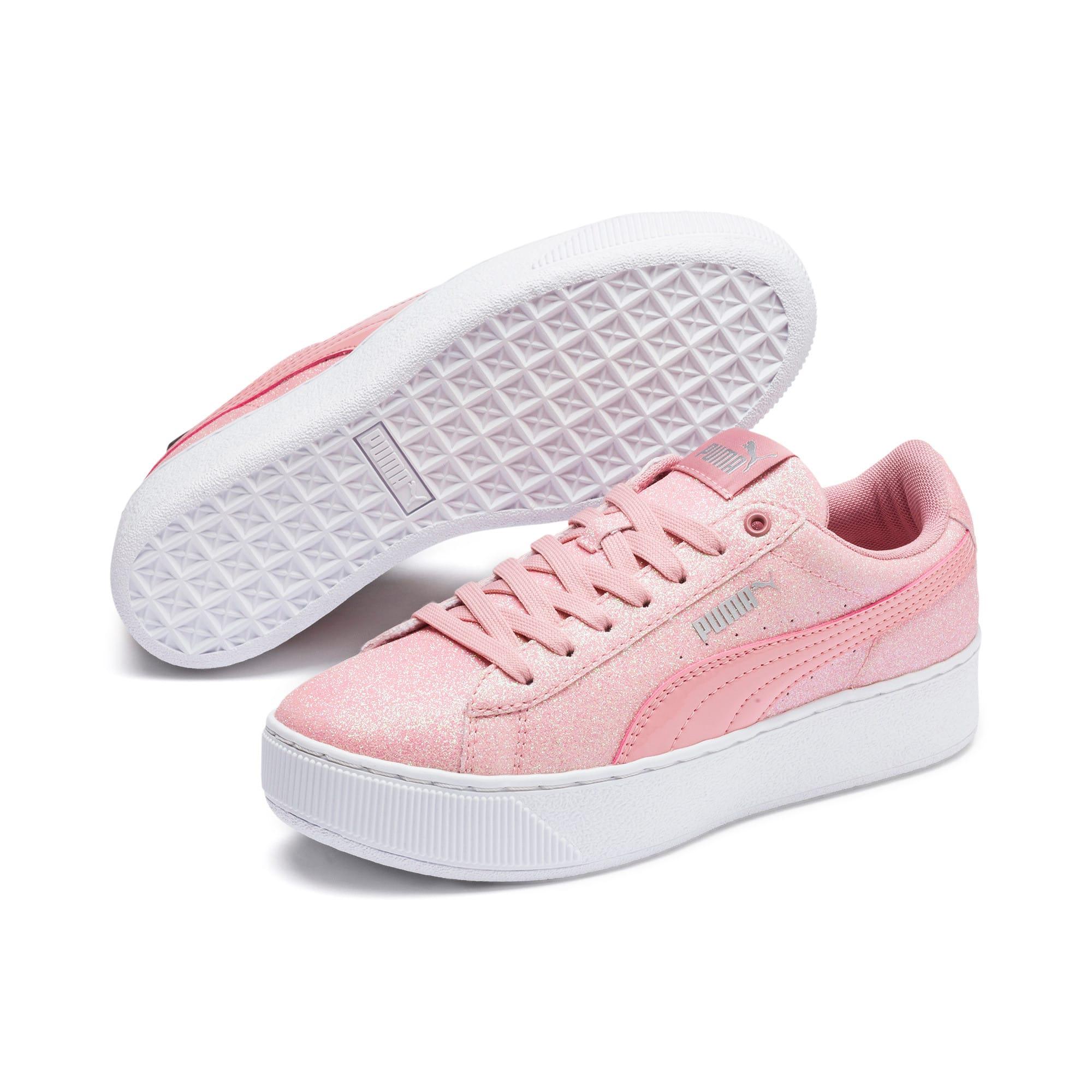 Thumbnail 2 of PUMA Vikky Platform Glitz Sneakers JR, Bridal Rose-Bridal Rose, medium