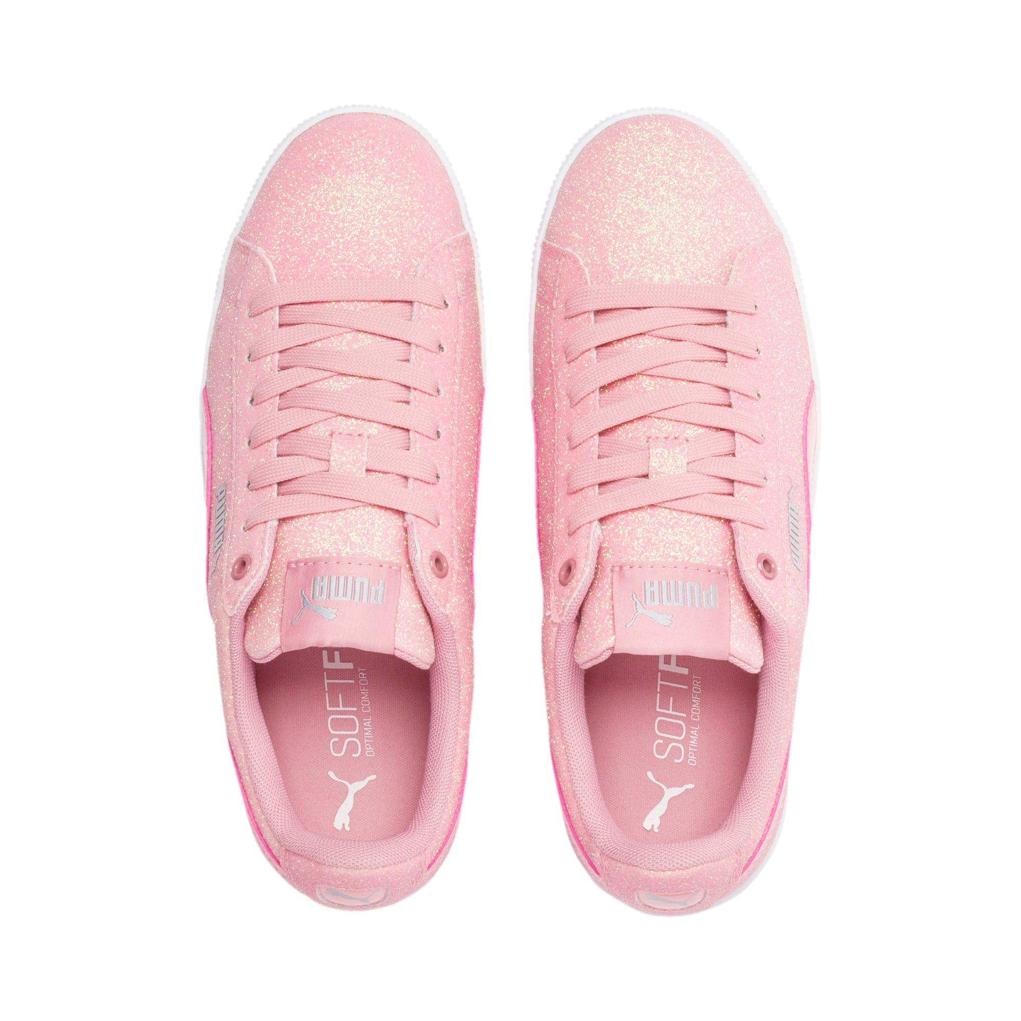 Thumbnail 6 of PUMA Vikky Platform Glitz Sneakers JR, Bridal Rose-Bridal Rose, medium