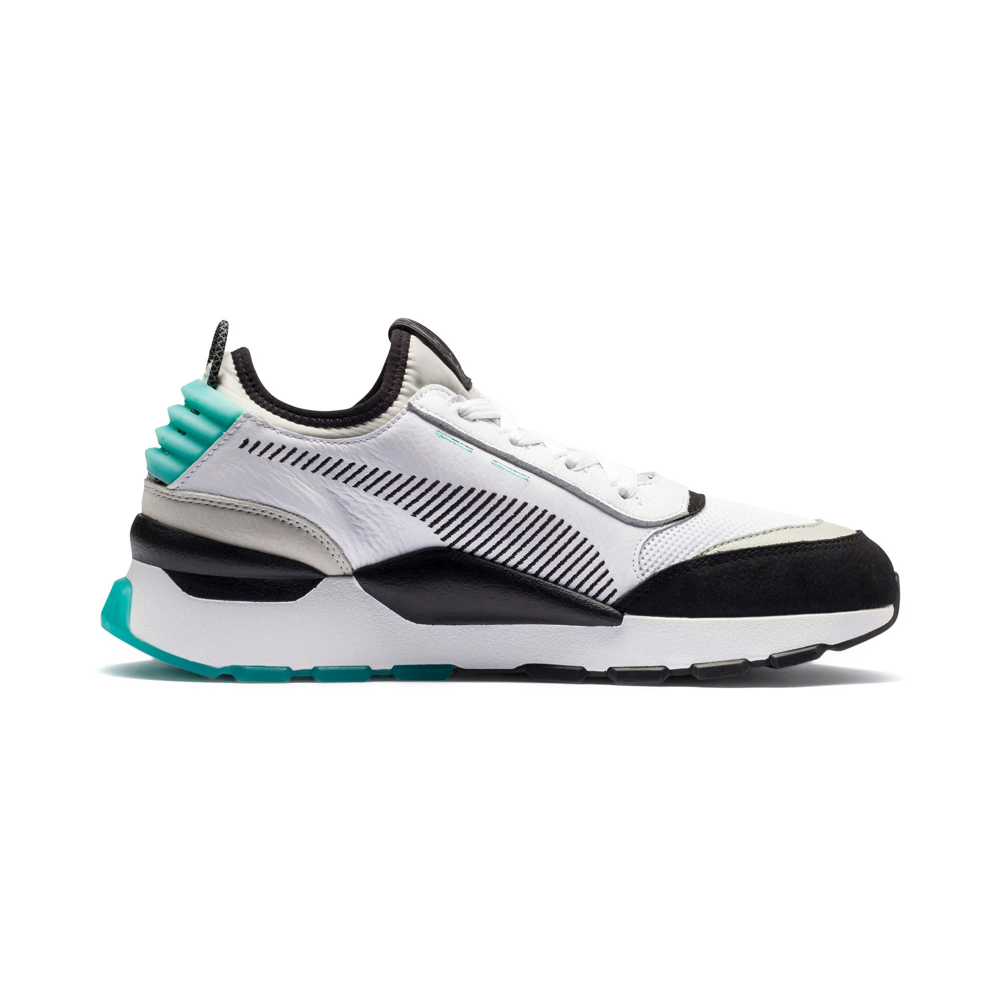 Thumbnail 5 of RS-0 Re-Invention Trainers, White-GrayViolet-BiscayGreen, medium