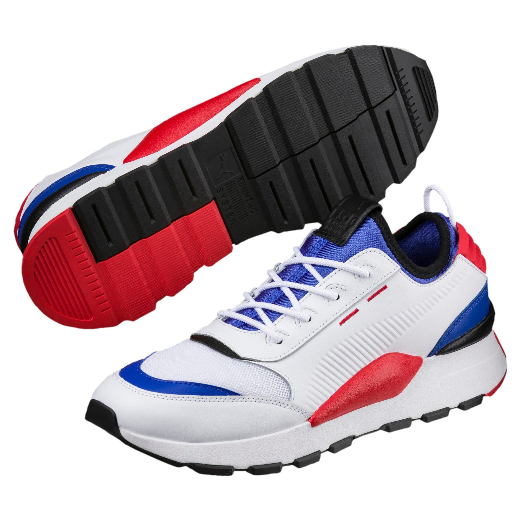 Thumbnail 2 of Evolution RS-0 SOUND Trainers, White-DazzBlue-HighRiskRed, medium