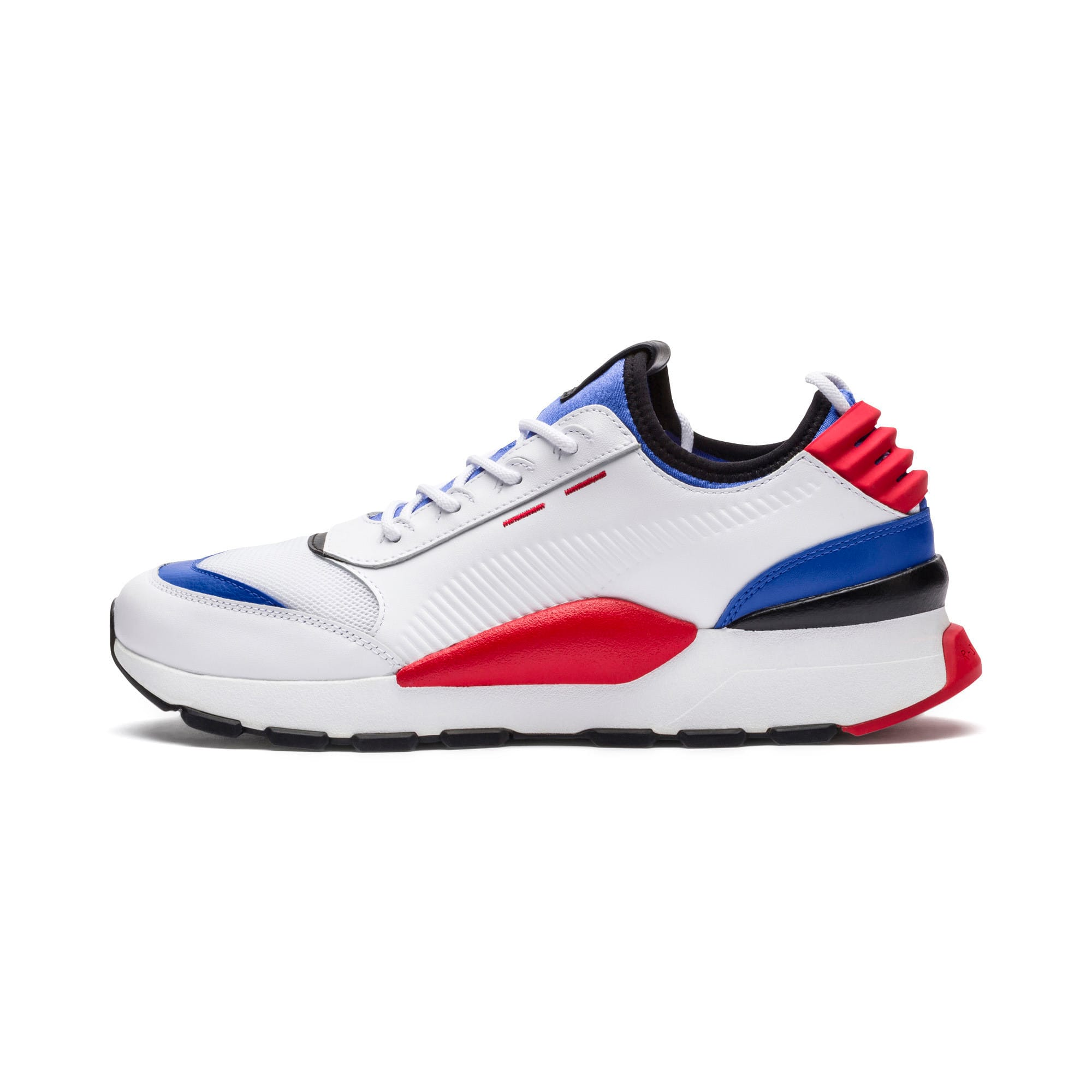 Thumbnail 1 of Evolution RS-0 SOUND Trainers, White-DazzBlue-HighRiskRed, medium