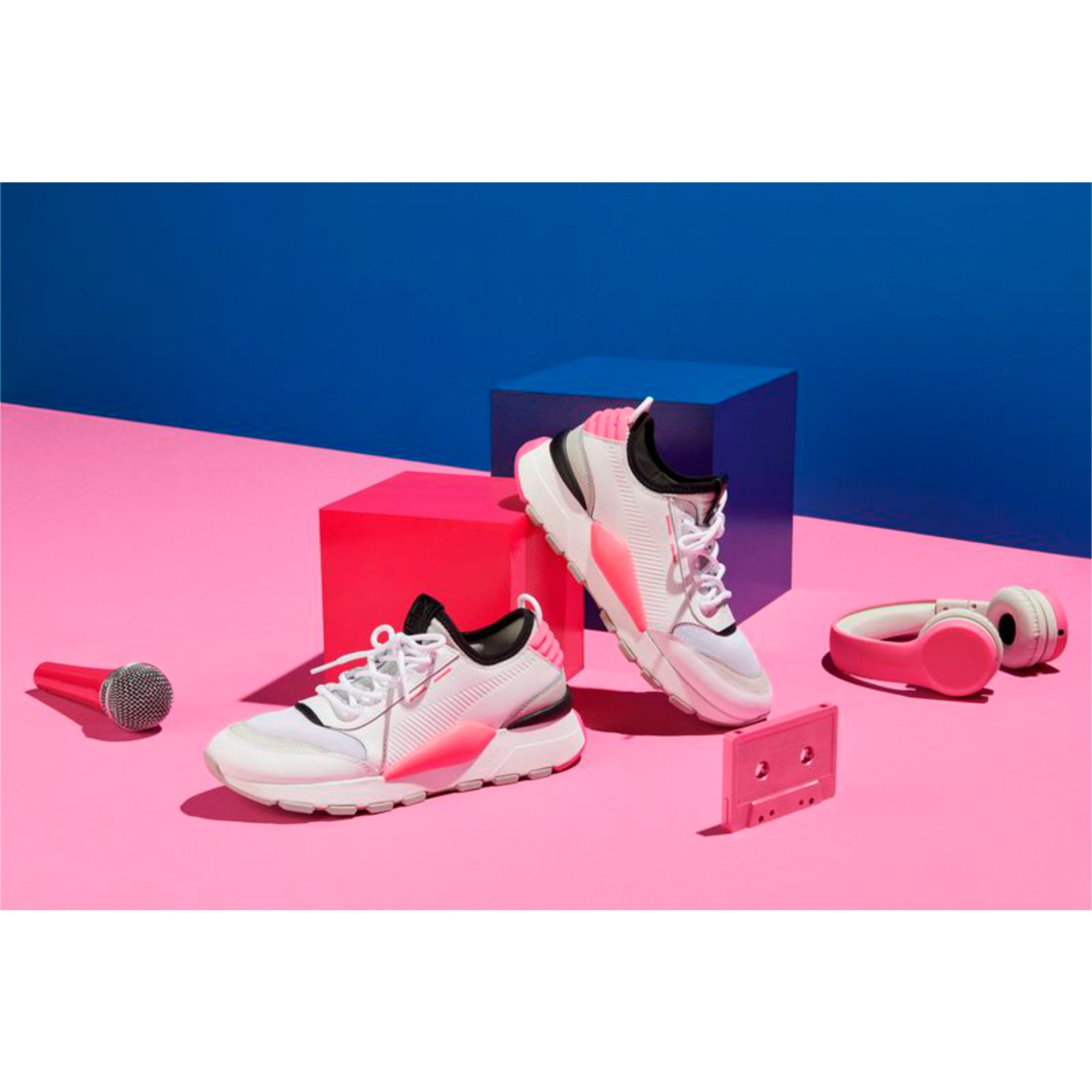 Thumbnail 6 of Evolution RS-0 SOUND Trainers, Wht-GrayViolet-KNOCKOUTPINK, medium