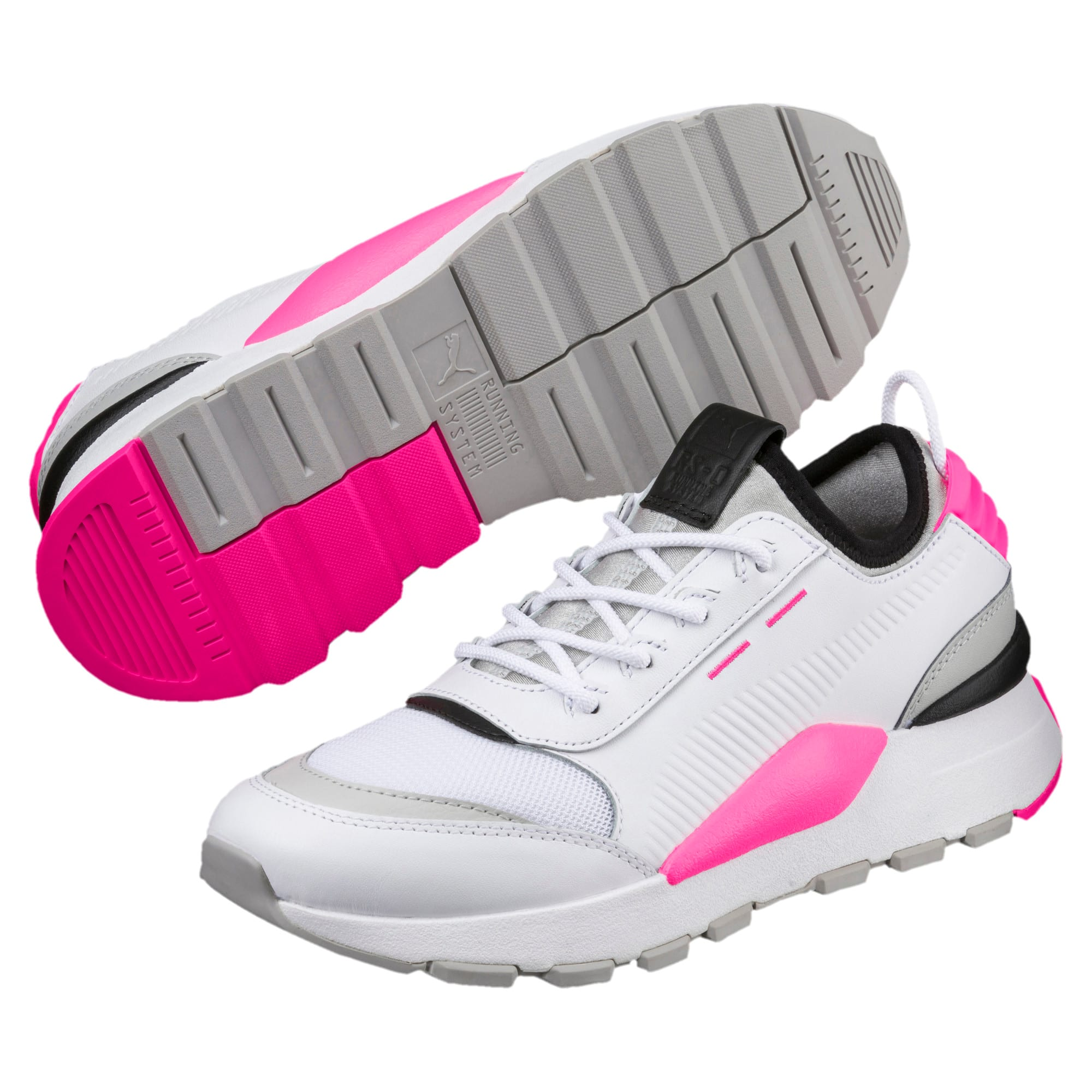 Thumbnail 2 of Evolution RS-0 SOUND Trainers, Wht-GrayViolet-KNOCKOUTPINK, medium